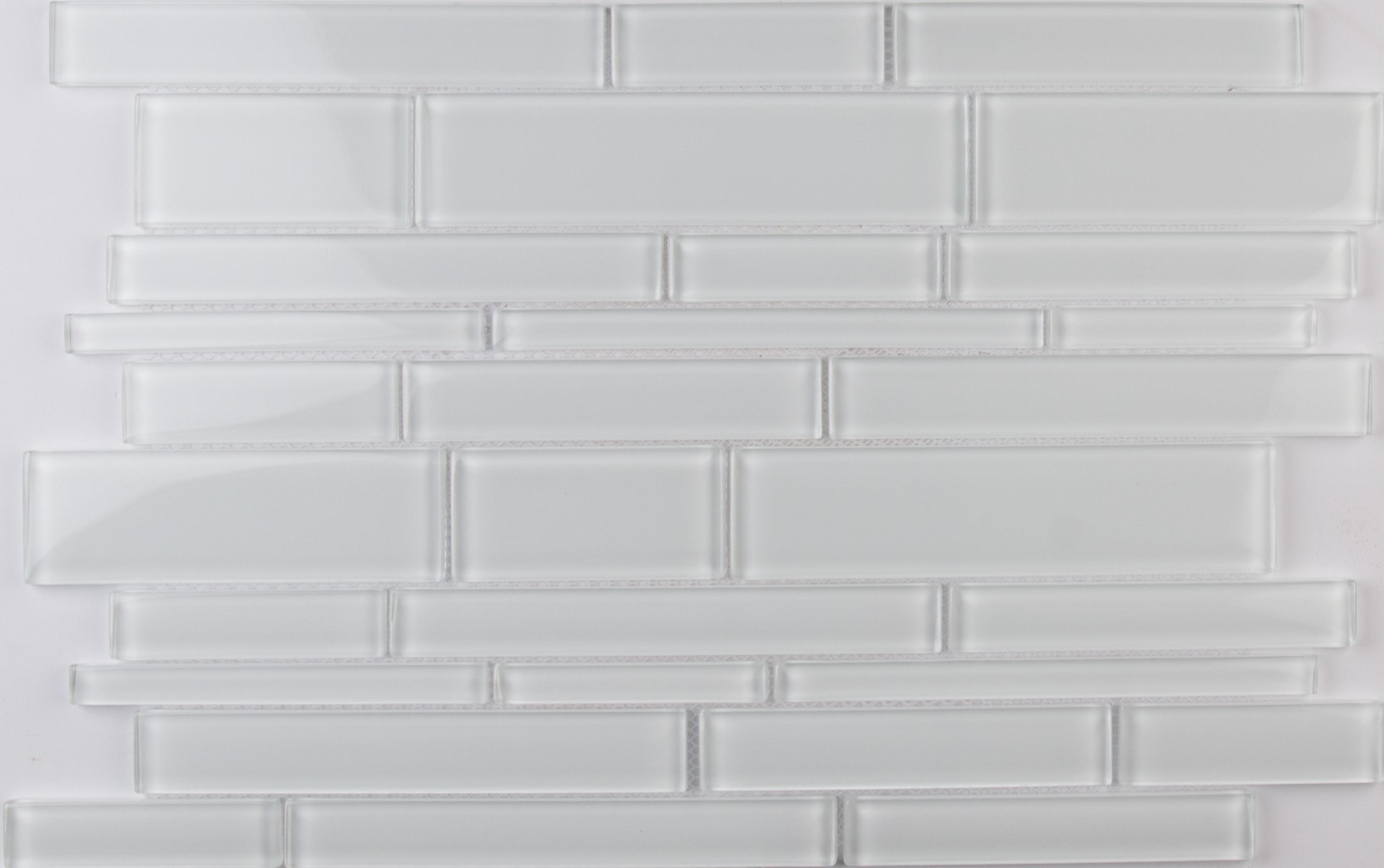 Ice Interlocking 8mm / Pattern / Glossy Glass Mosaic - Ice Collection 0