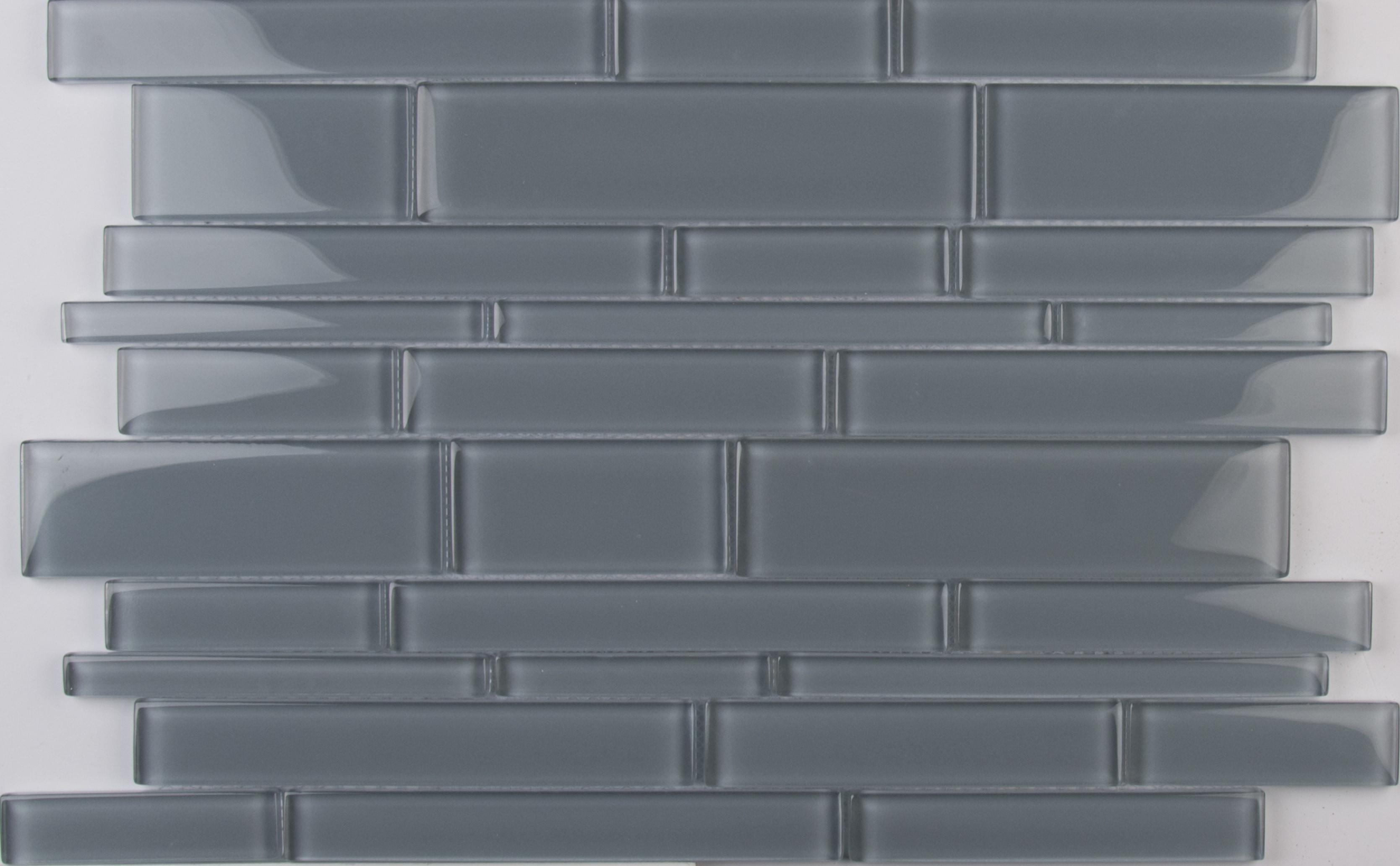 Pebble Interlocking 8mm / Pattern / Glossy Glass Mosaic - Pebble Collection 0