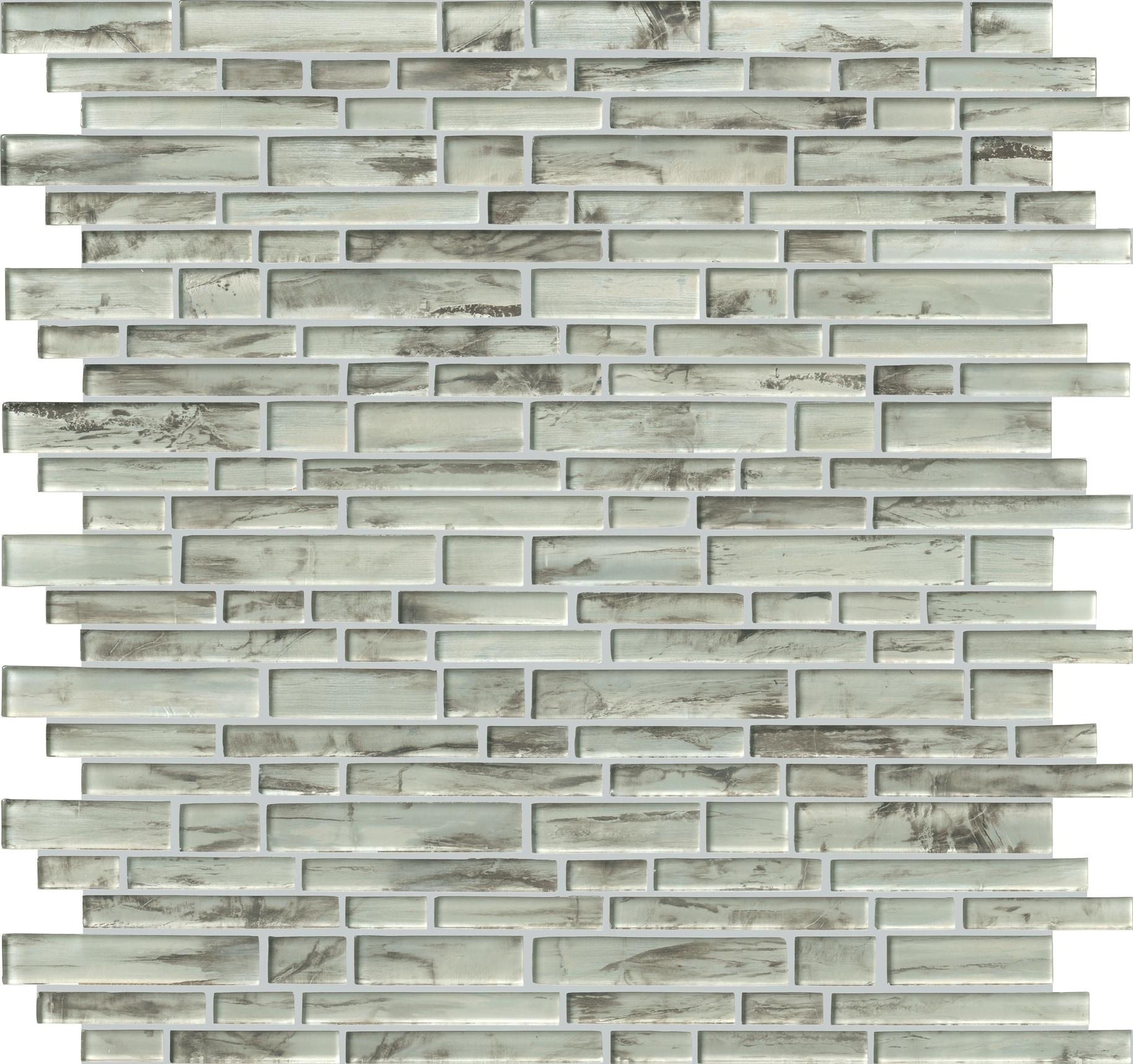Silvermist Interlocking 8mm / Pattern / Mixed Glass Mosaic - Silvermist Collection 0