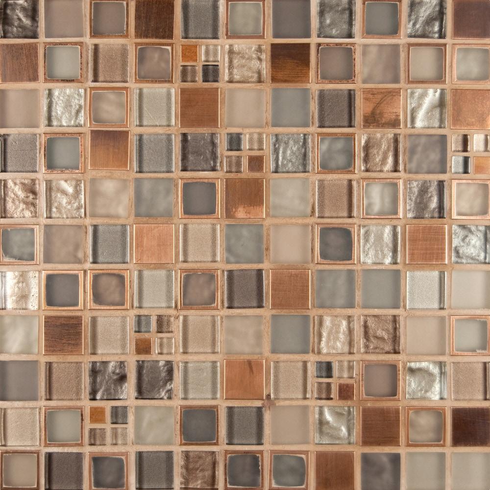 Ms International Mosaic Tile Manhattan Blend Blend 8mm