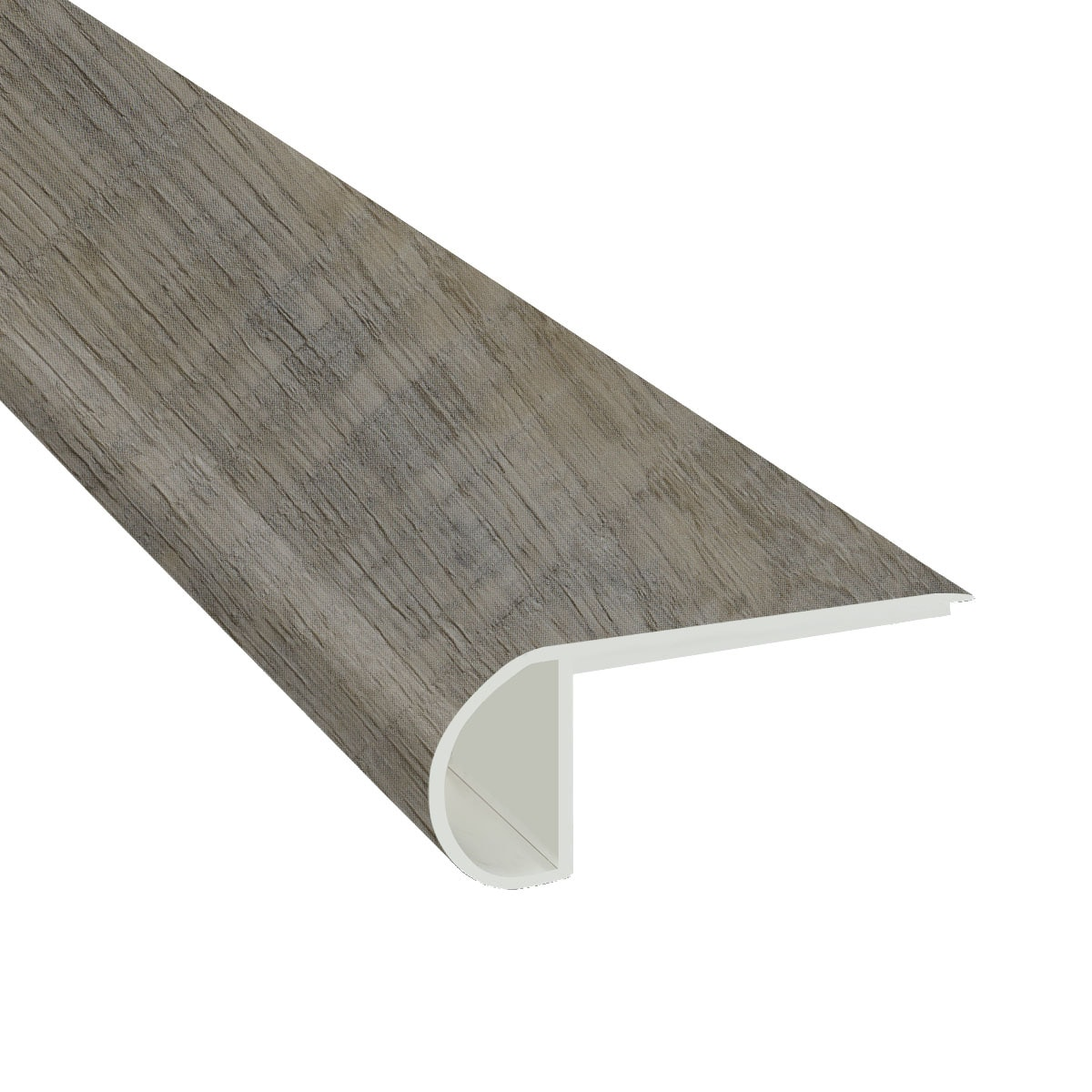 Cabot Vinyl Planks Moldings Cabot Spc Collections Weathered Oyster Flush Stairnose 94 X 2 3 4 X 3 4