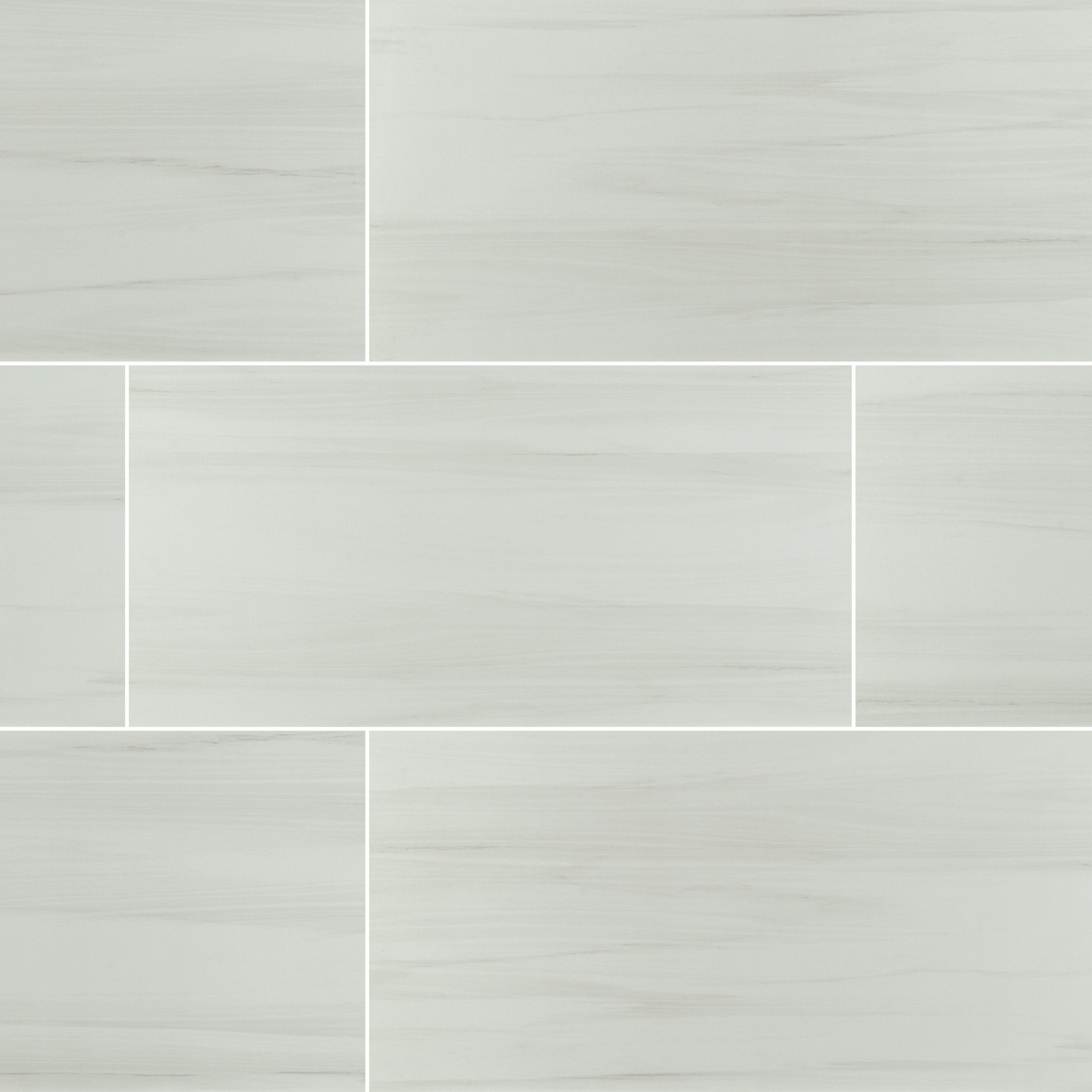 "Grey Limestone / 12""x24"" / MATTE Porcelain Tile - Creation Stone Series 0"