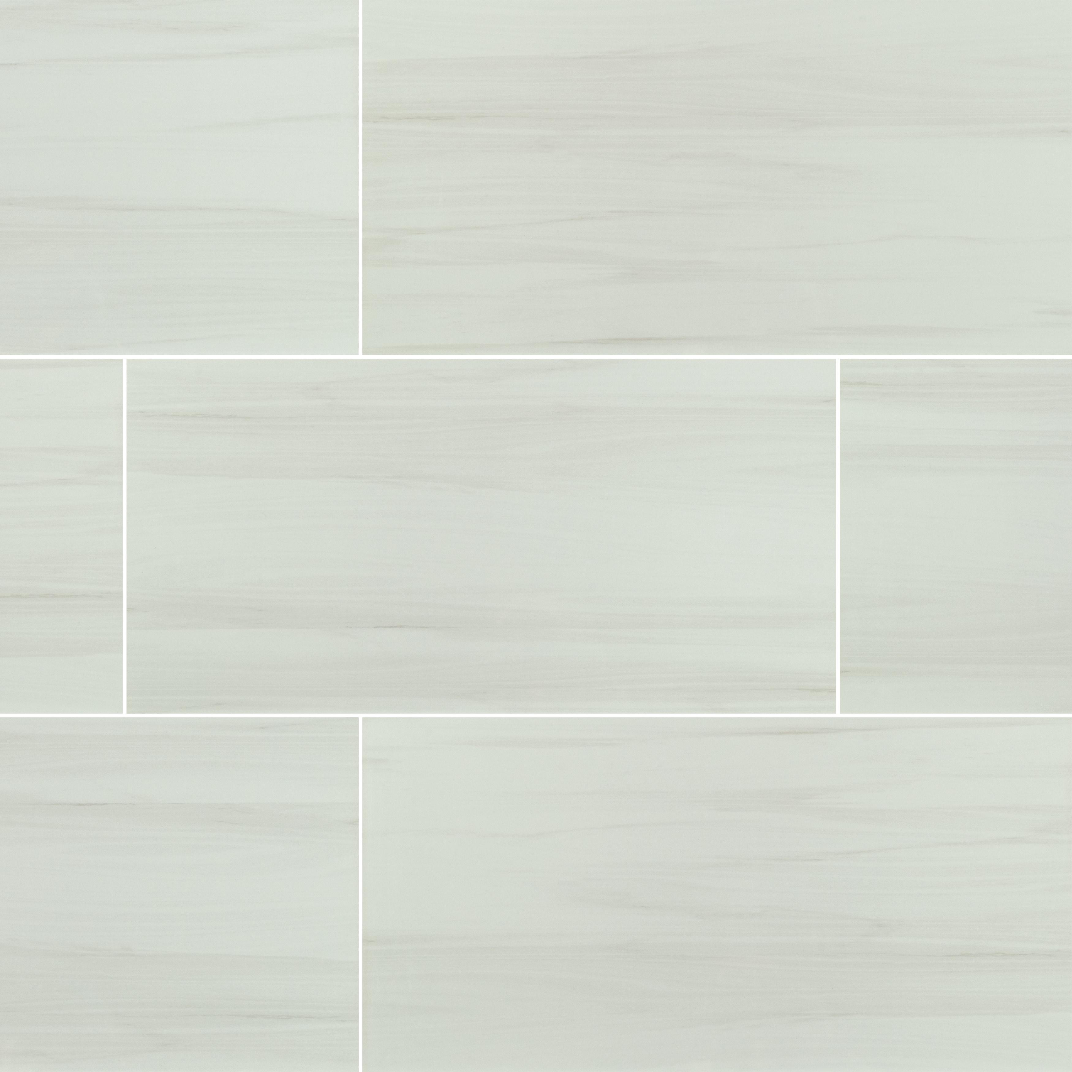 "Grey Limestone / 24""x48"" / POLISHED Porcelain Tile - Creation Stone Series 0"