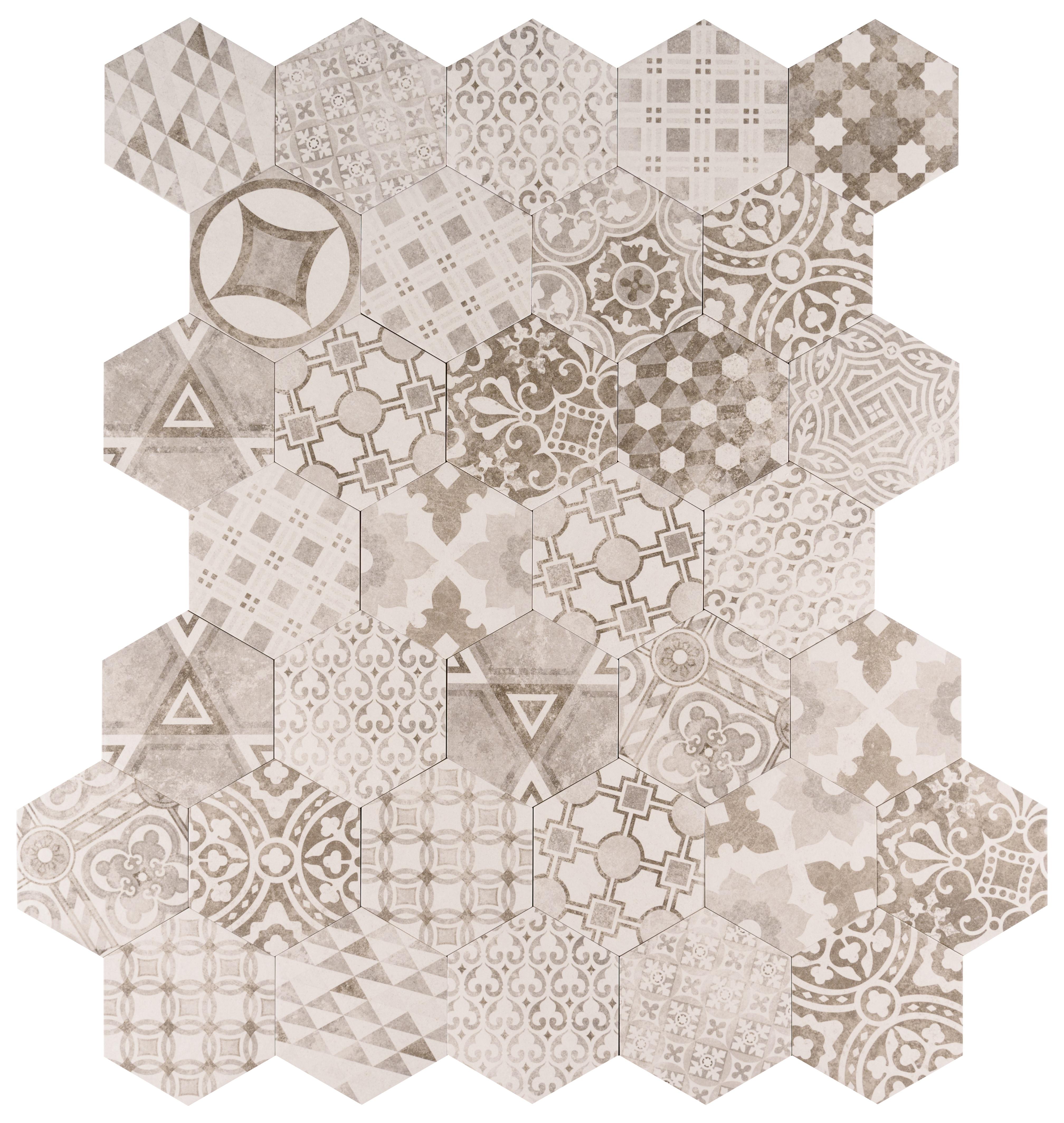 """Argent / 7""""x8"""" / Matte Fiore Series Porcelain Tile 0"""