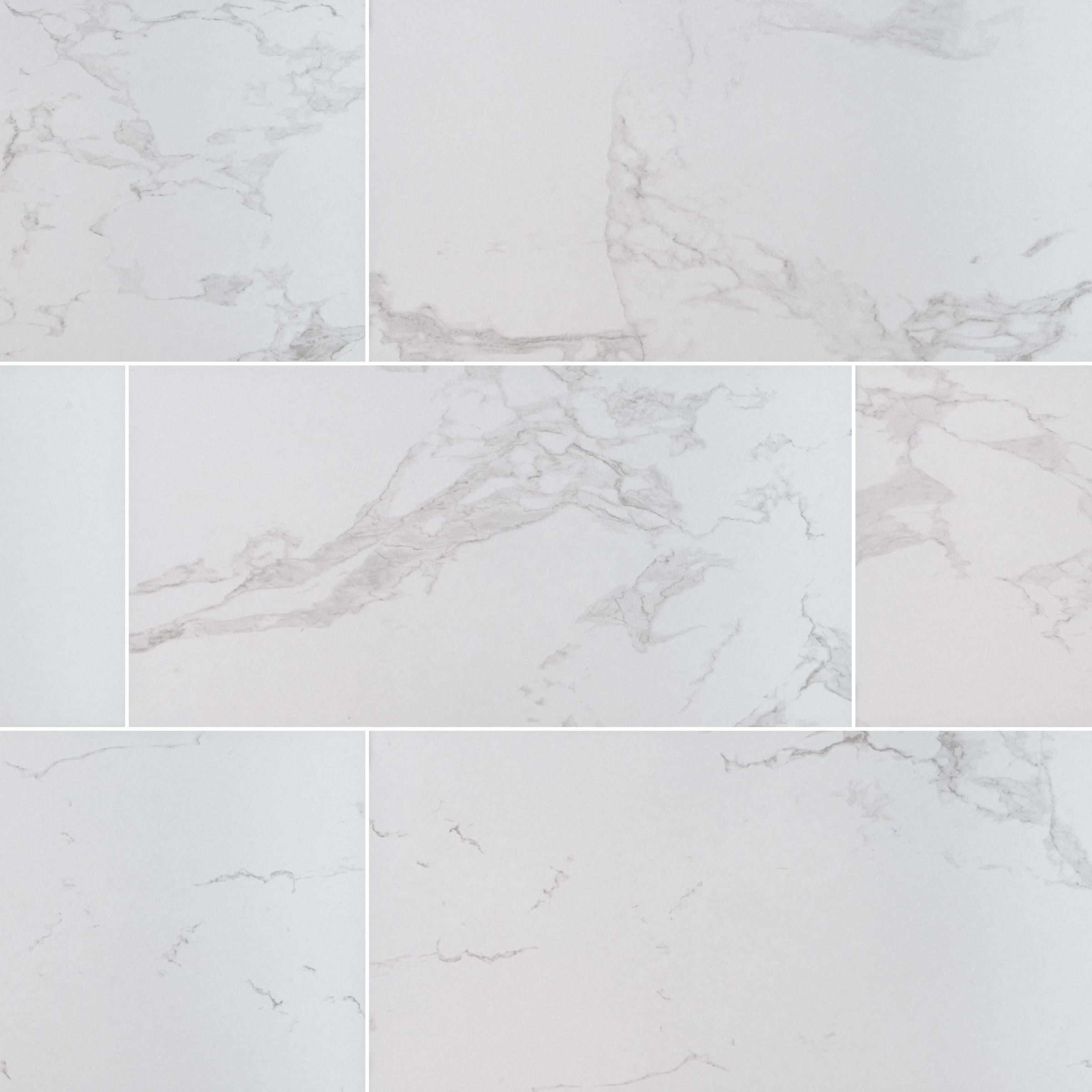 "Carrara / 24""x48"" / MATTE Porcelain Tile - Seaside Marble Series 0"