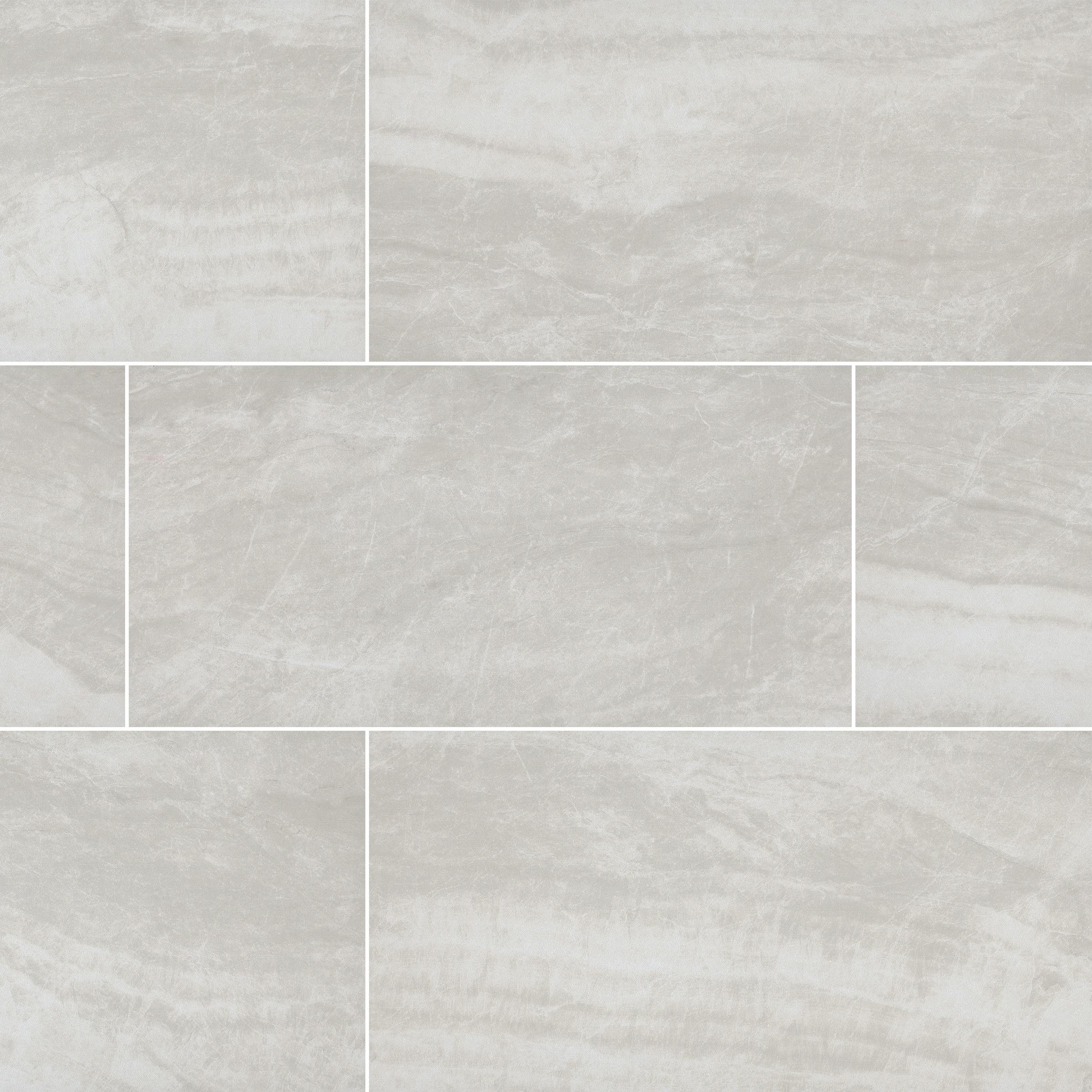 "Grigio / 12""x24"" / POLISHED Porcelain Tile - Seaside Marble Series 0"