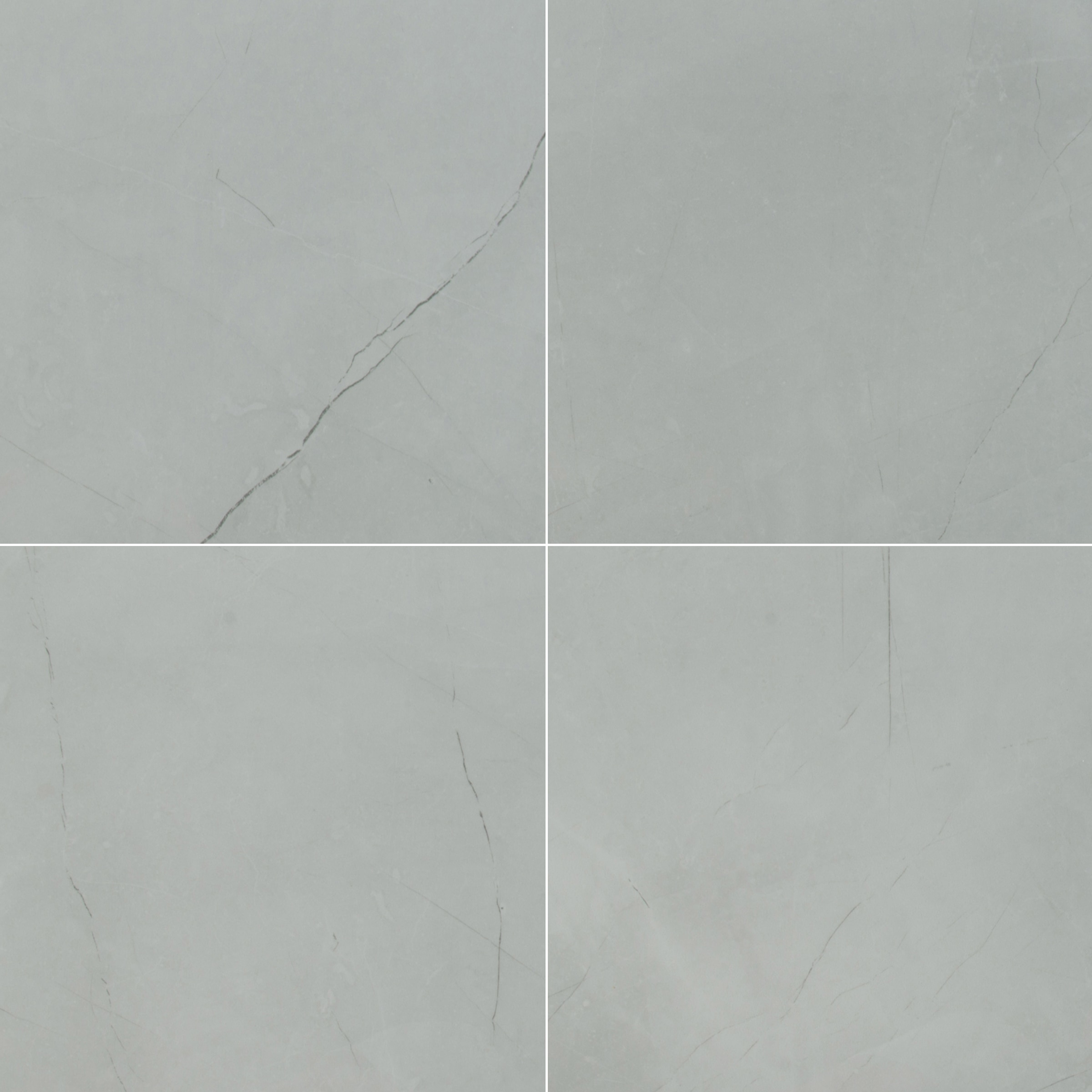 "Harbor Grey / 24""x24"" / MATTE Porcelain Tile - Riverbank Stone Series 0"