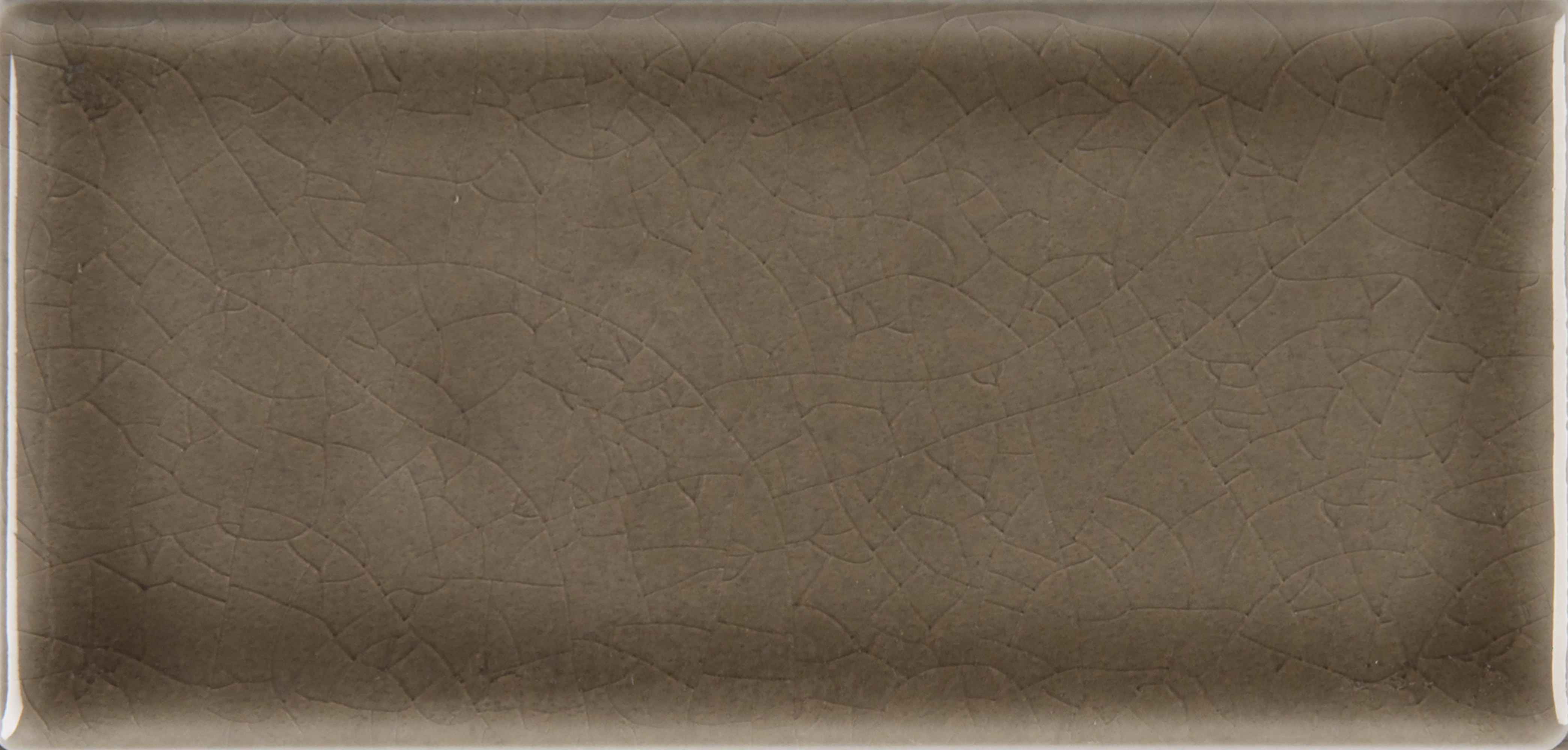 """Glazed Handcrafted / 3""""x6"""" / Glossy Ceramic Tile - Artisan Taupe 0"""