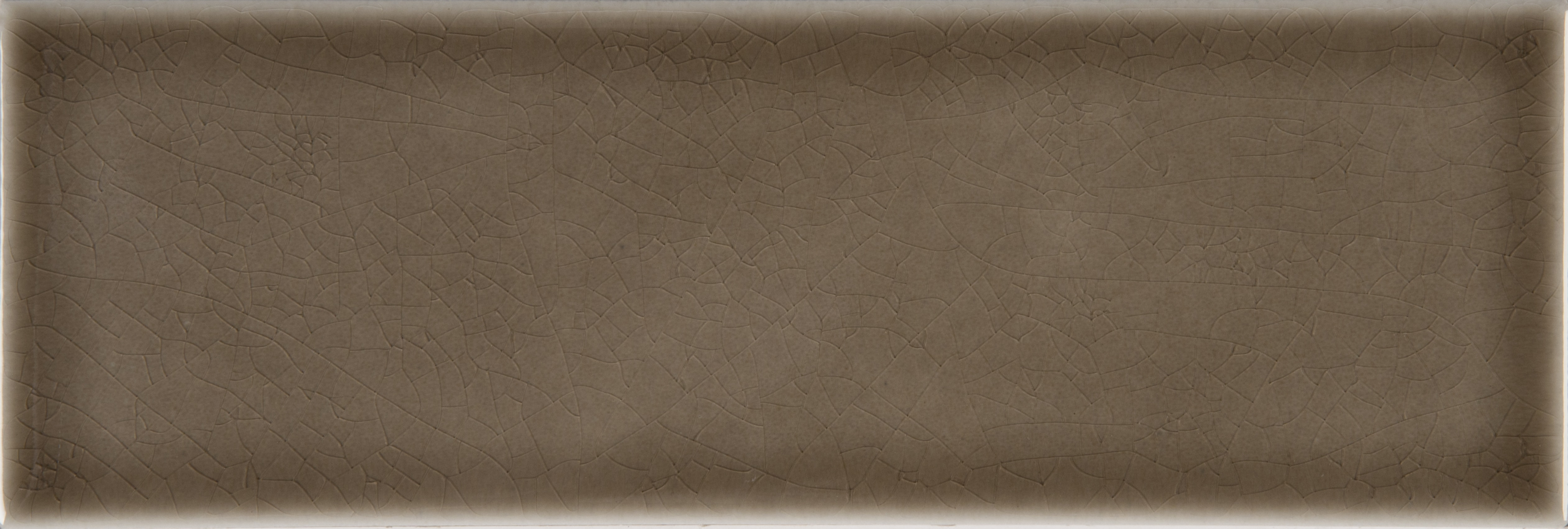 """Glazed Handcrafted / 4""""x12"""" / Glossy Ceramic Tile - Artisan Taupe 0"""