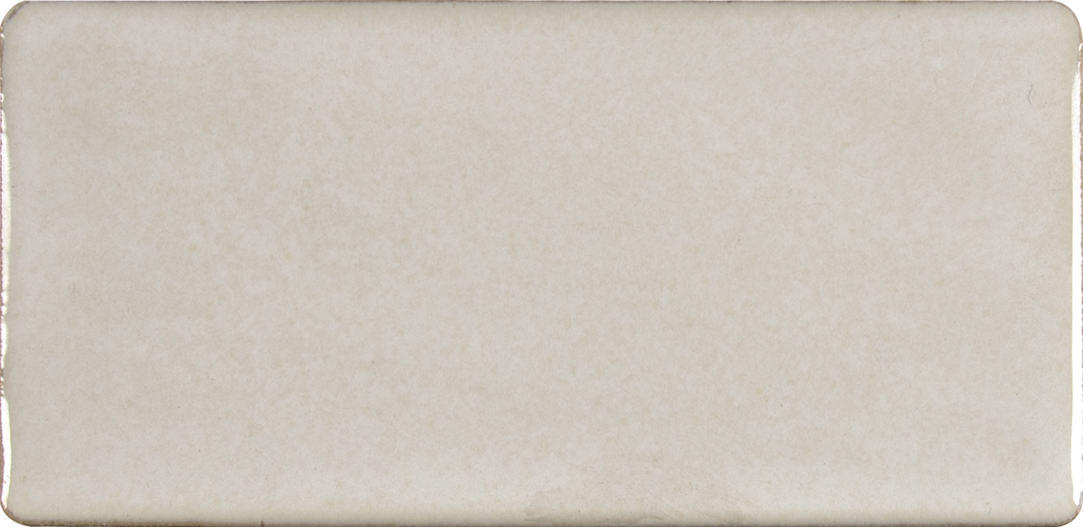 """Glazed Handcrafted / 3""""x6"""" / Glossy Ceramic Tile - Antique White 0"""