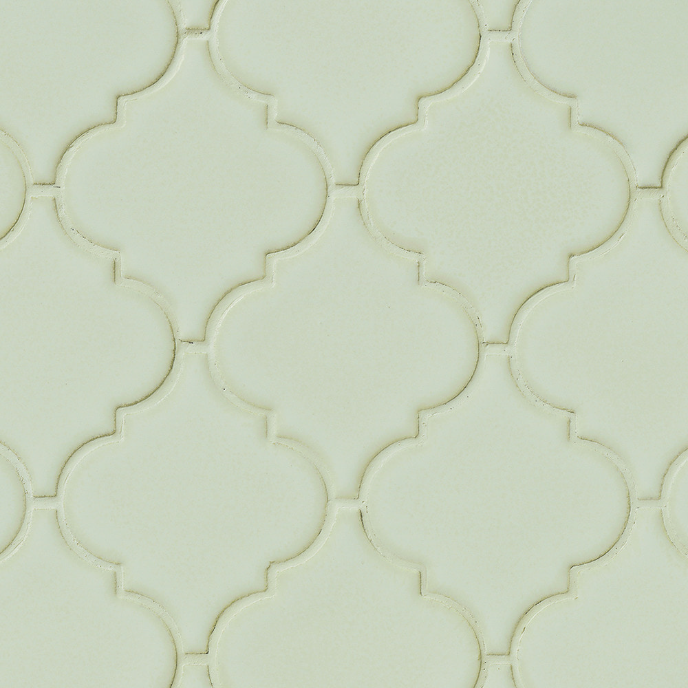 MS International Ceramic Tile - Antique White Arabesque 8mm ...