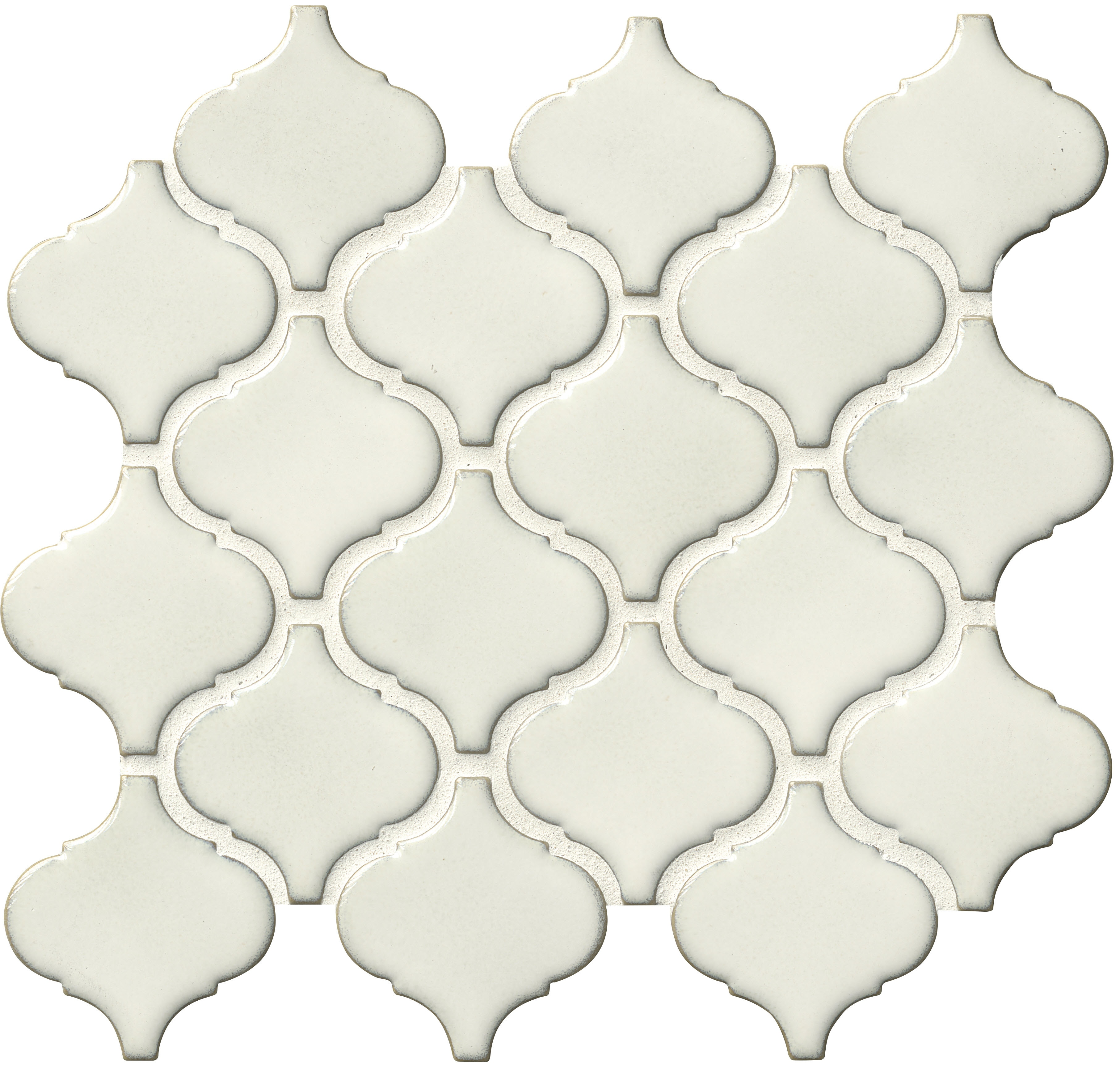 Arabesque 6mm / Pattern / Glossy Ceramic Tile - Bianco 0