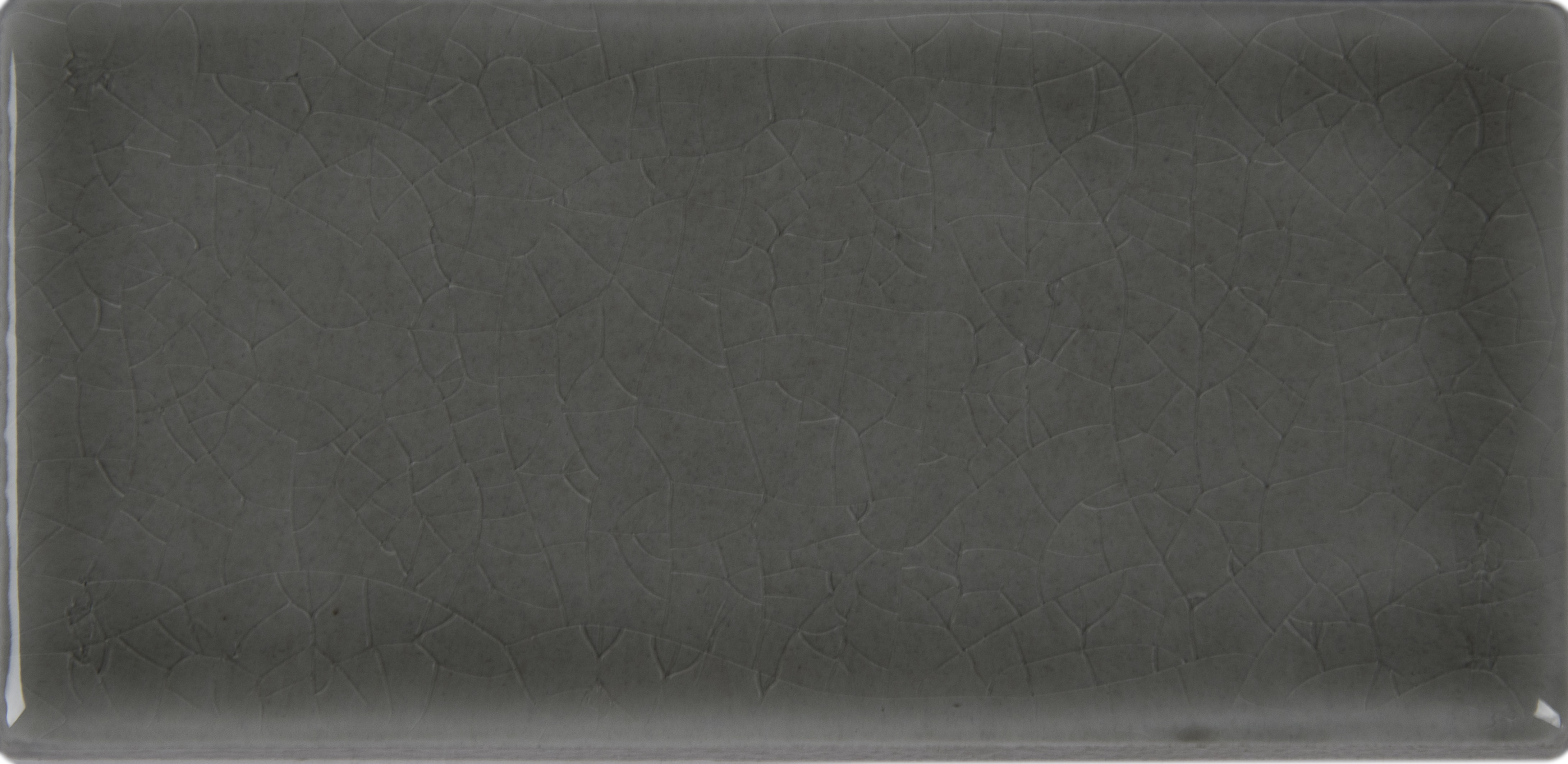 """Glazed Handcrafted / 3""""x6"""" / Glossy Ceramic Tile - Dove Gray 0"""
