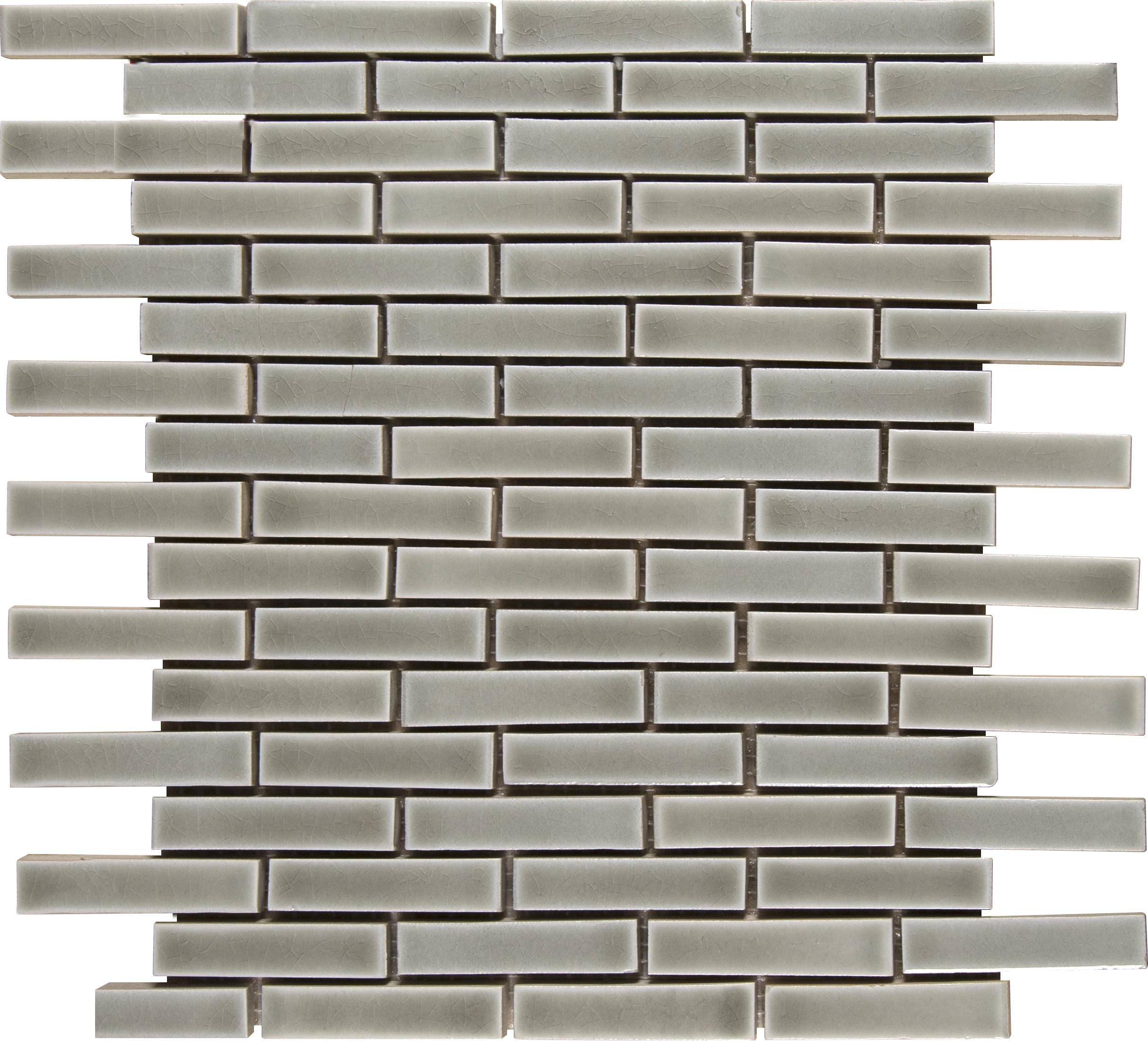 Brick 8mm / Pattern / Glossy Ceramic Tile - Dove Gray 0
