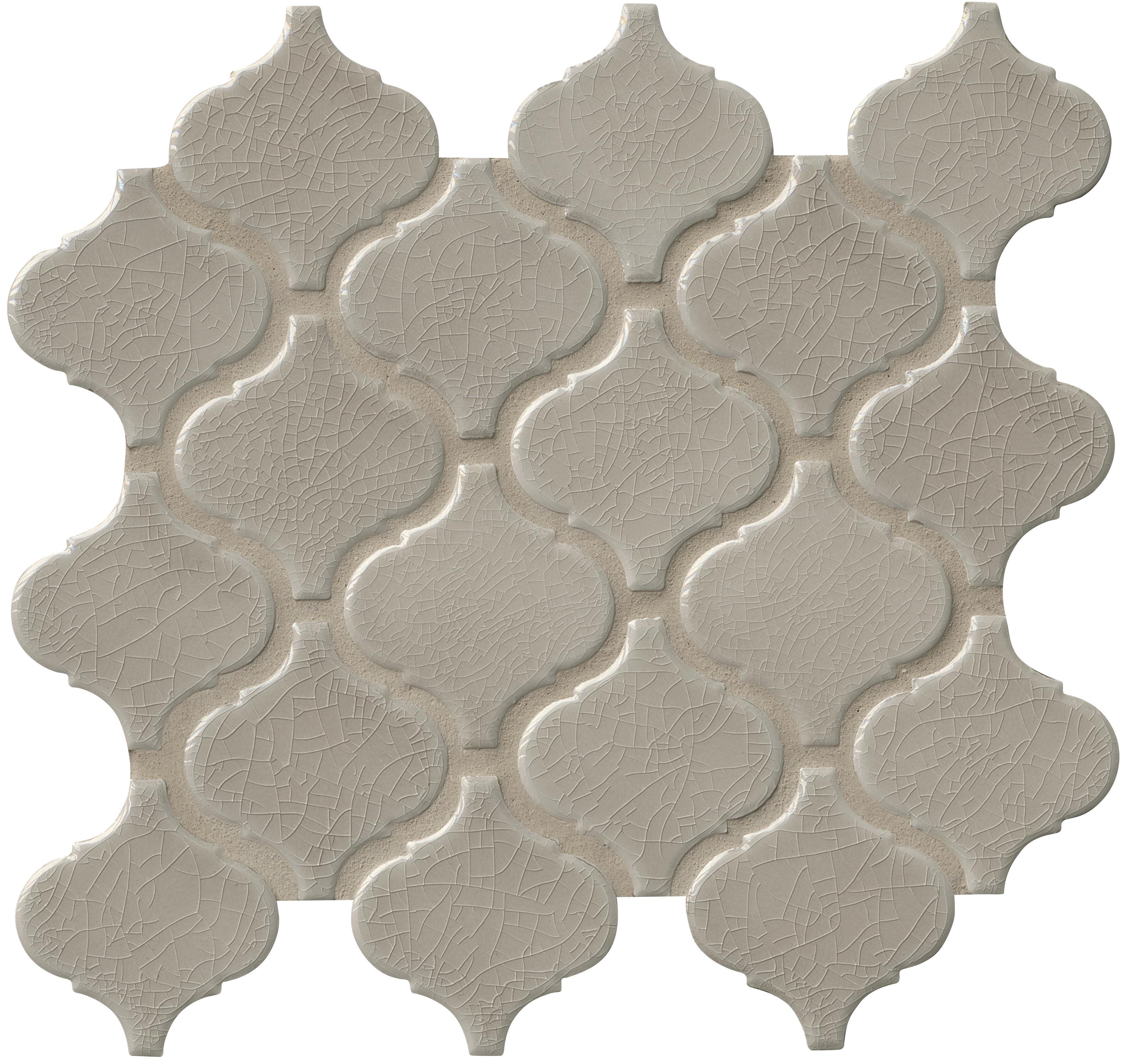 Arabesque 6mm / Pattern / Glossy Porcelain Tile - Fog 0