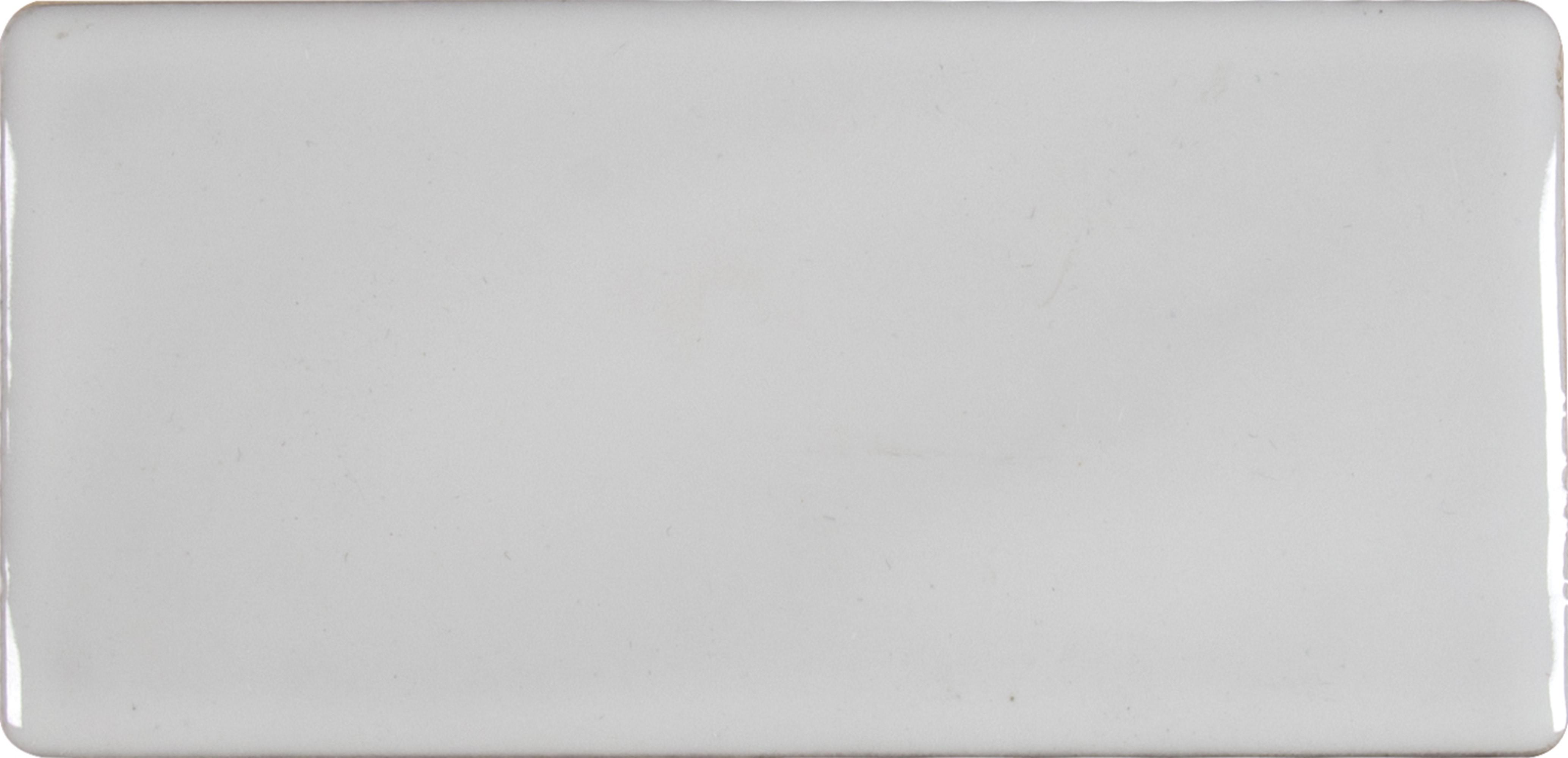"""Glazed Handcrafted / 3""""x6"""" / Glossy Ceramic Tile - Whisper White 0"""