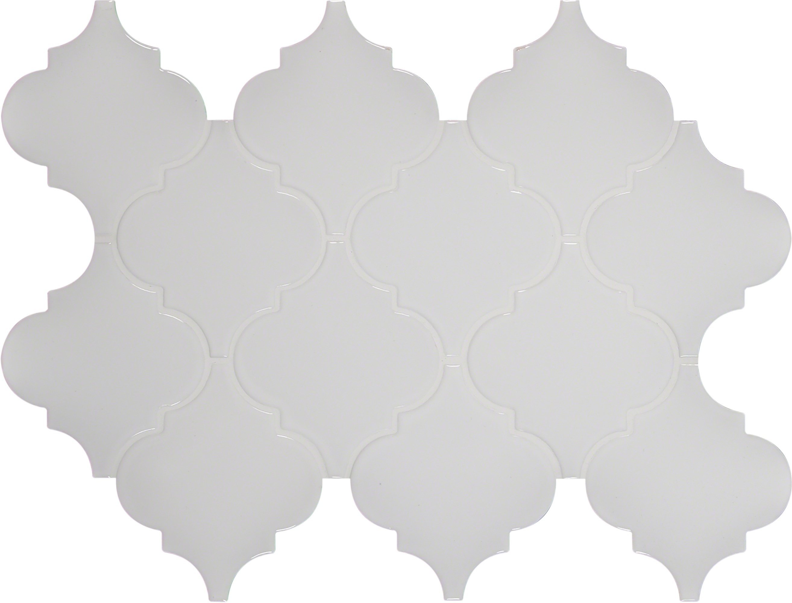 Ms international ceramic tile whisper white arabesque 8mm ms international ceramic tile whisper white arabesque 8mm pattern glossy dailygadgetfo Image collections
