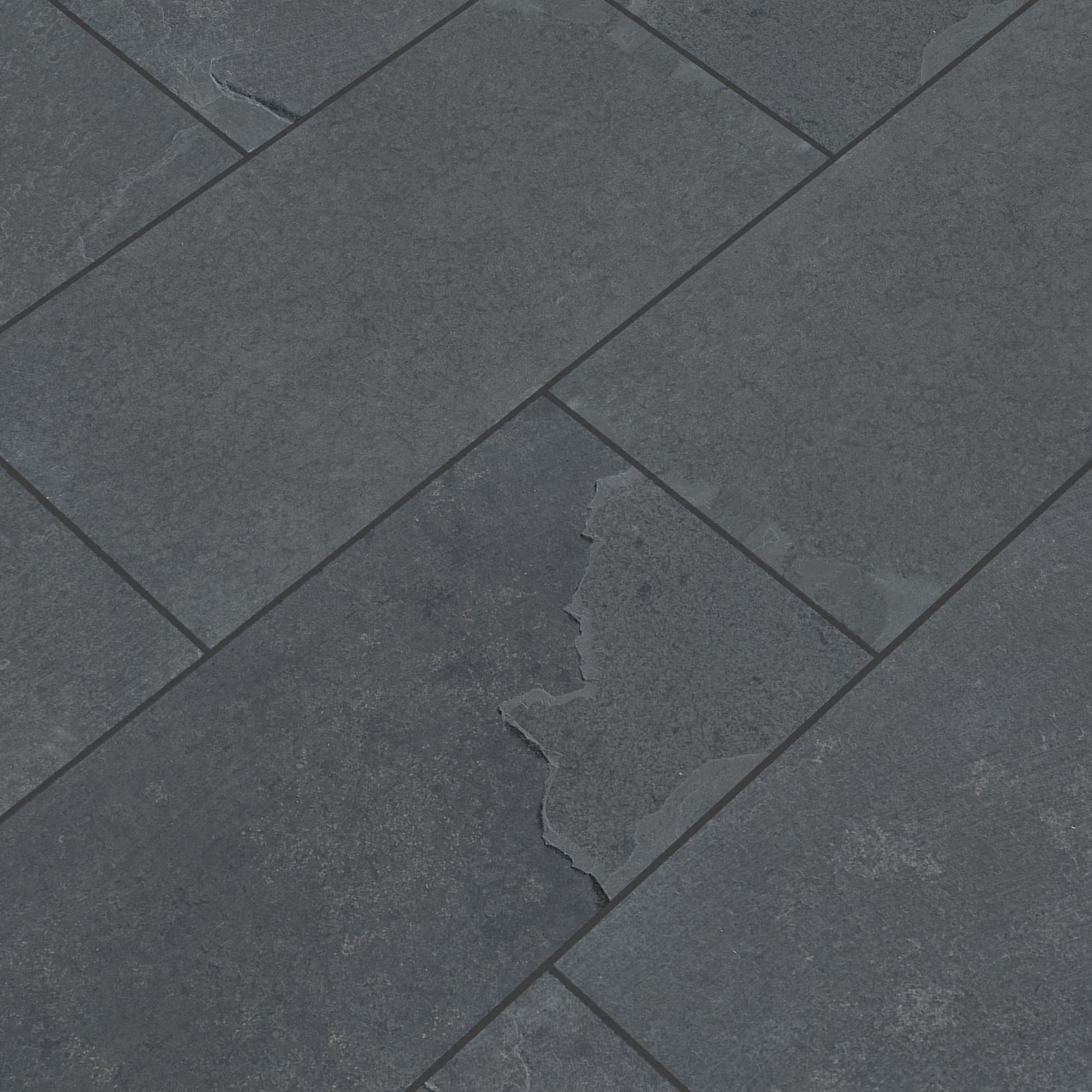 "Montauk Black / 3"" x 6"" Cabots Slate Tiles 0"