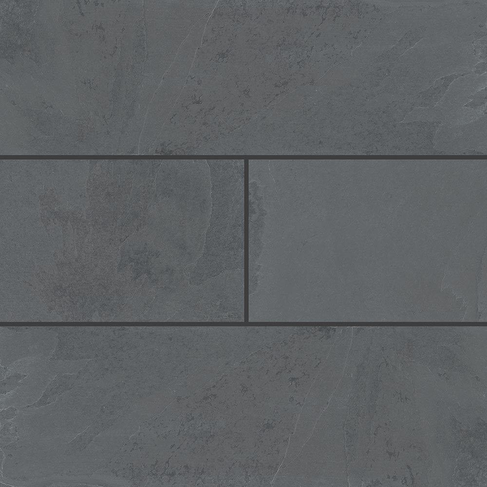 "Montauk Black / 4"" x 12"" Cabots Slate Tiles 0"