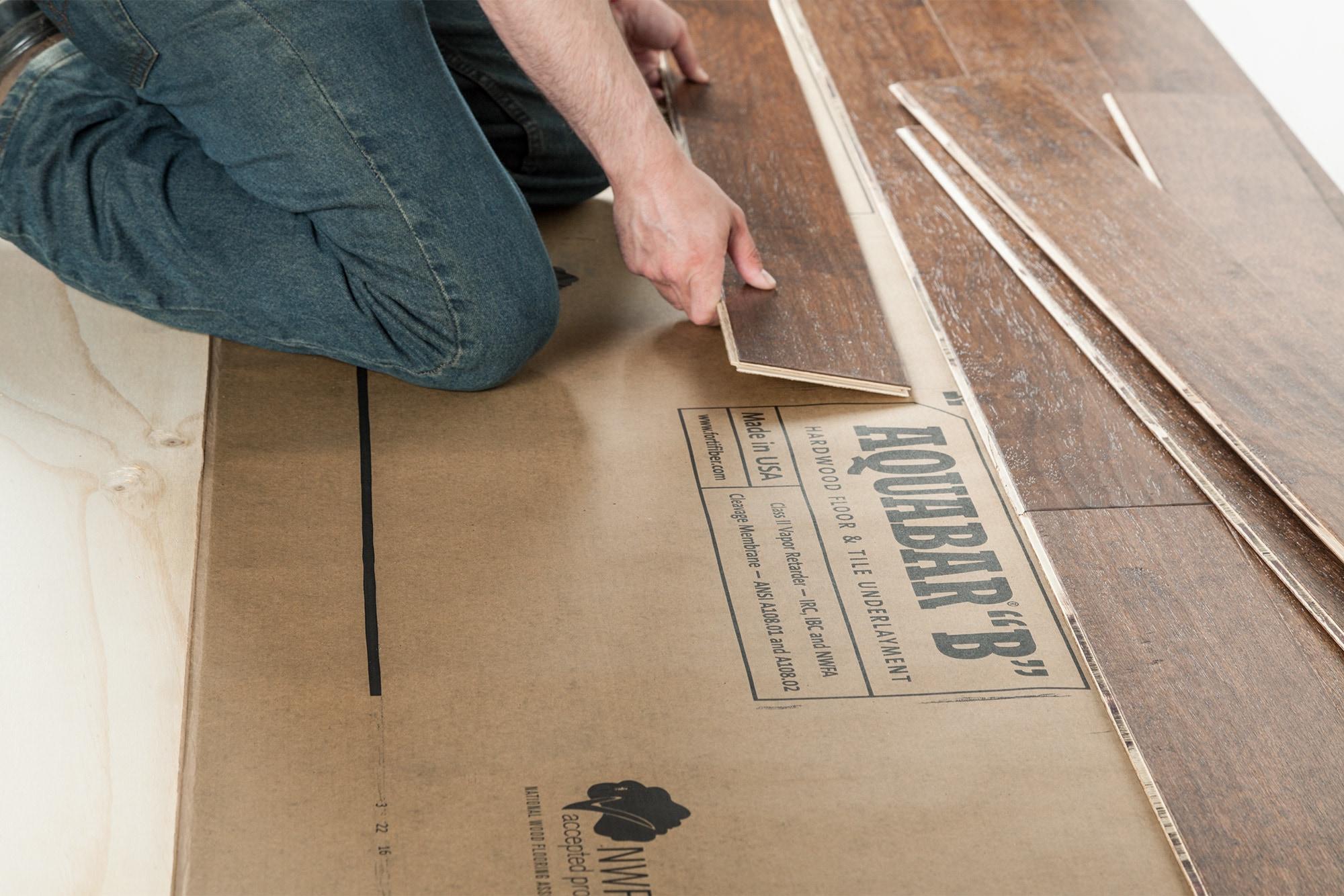 Aquabar NWFA Approved Hardwood Underlayment Underlayment for Wood