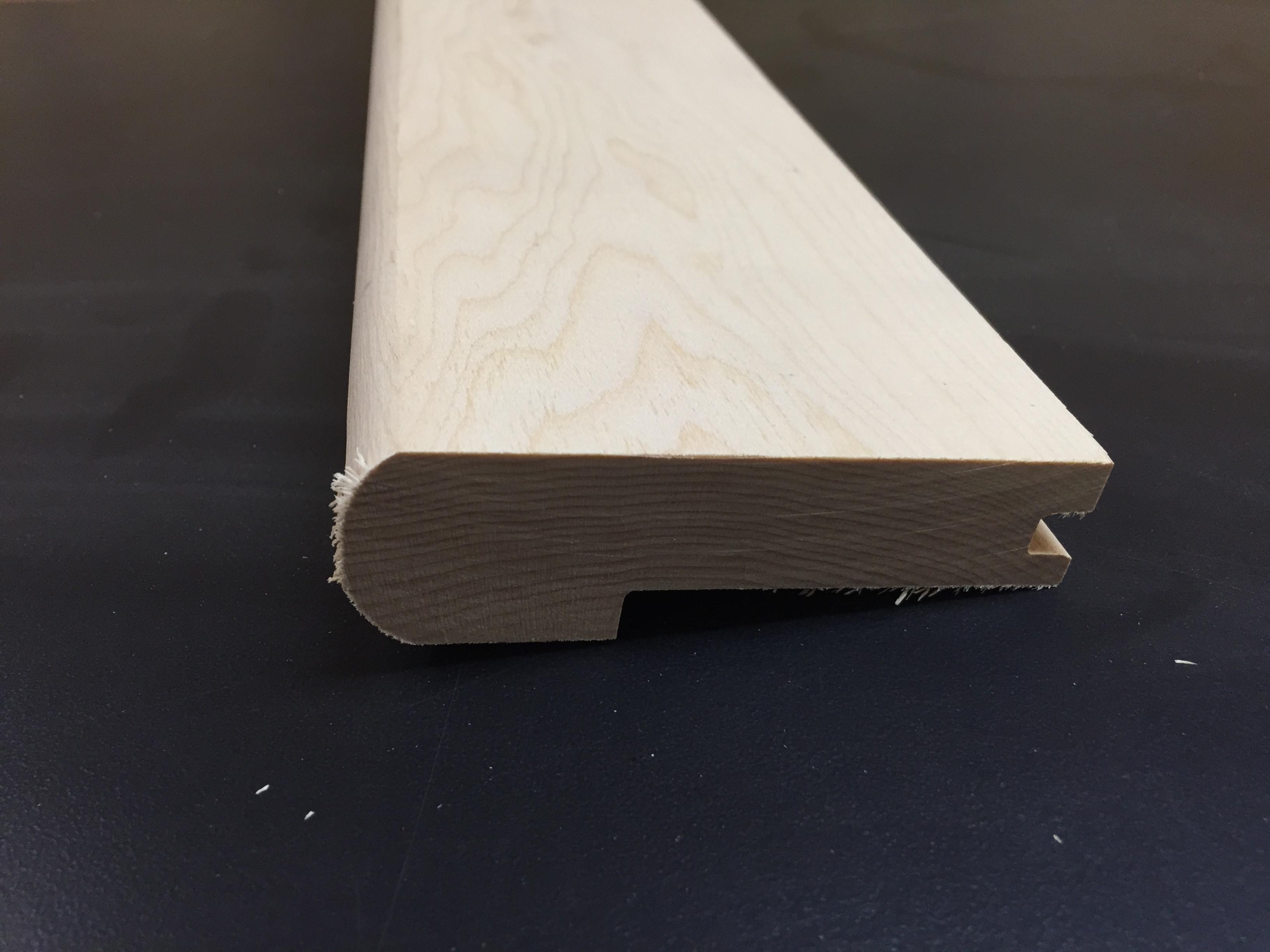 "Stair Nosing / Hard Maple / 1-1/16"" X 5.25"" / Stair Nosing Floor Molding - Unfinished Hardwood Floor Moldings 0"