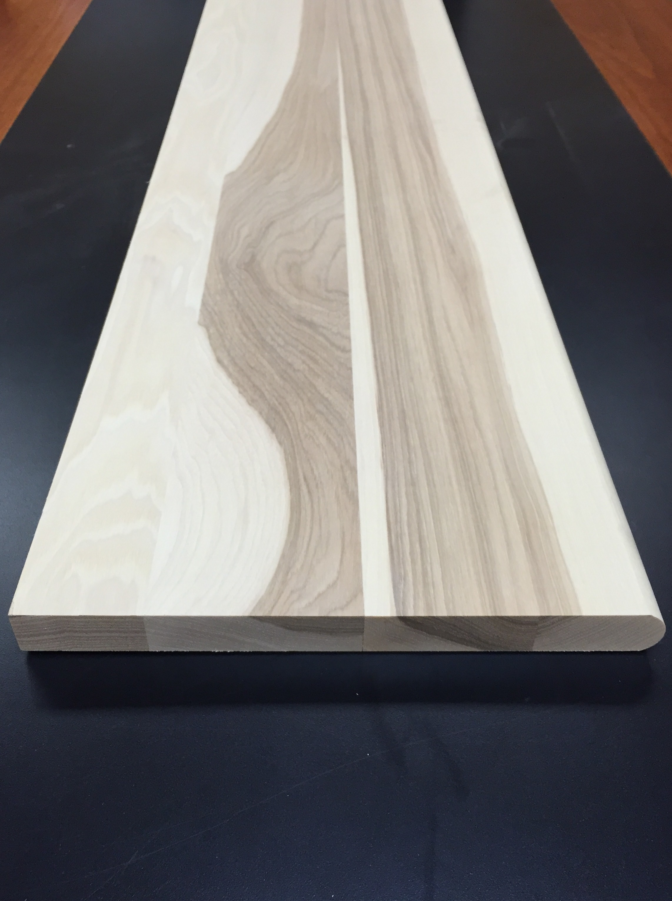 """Unfinished Stair Tread / Hickory / 1-1/16"""" X 60"""" / Tread Flooring Molding - Unfinished Hardwood Stair Tread 0"""
