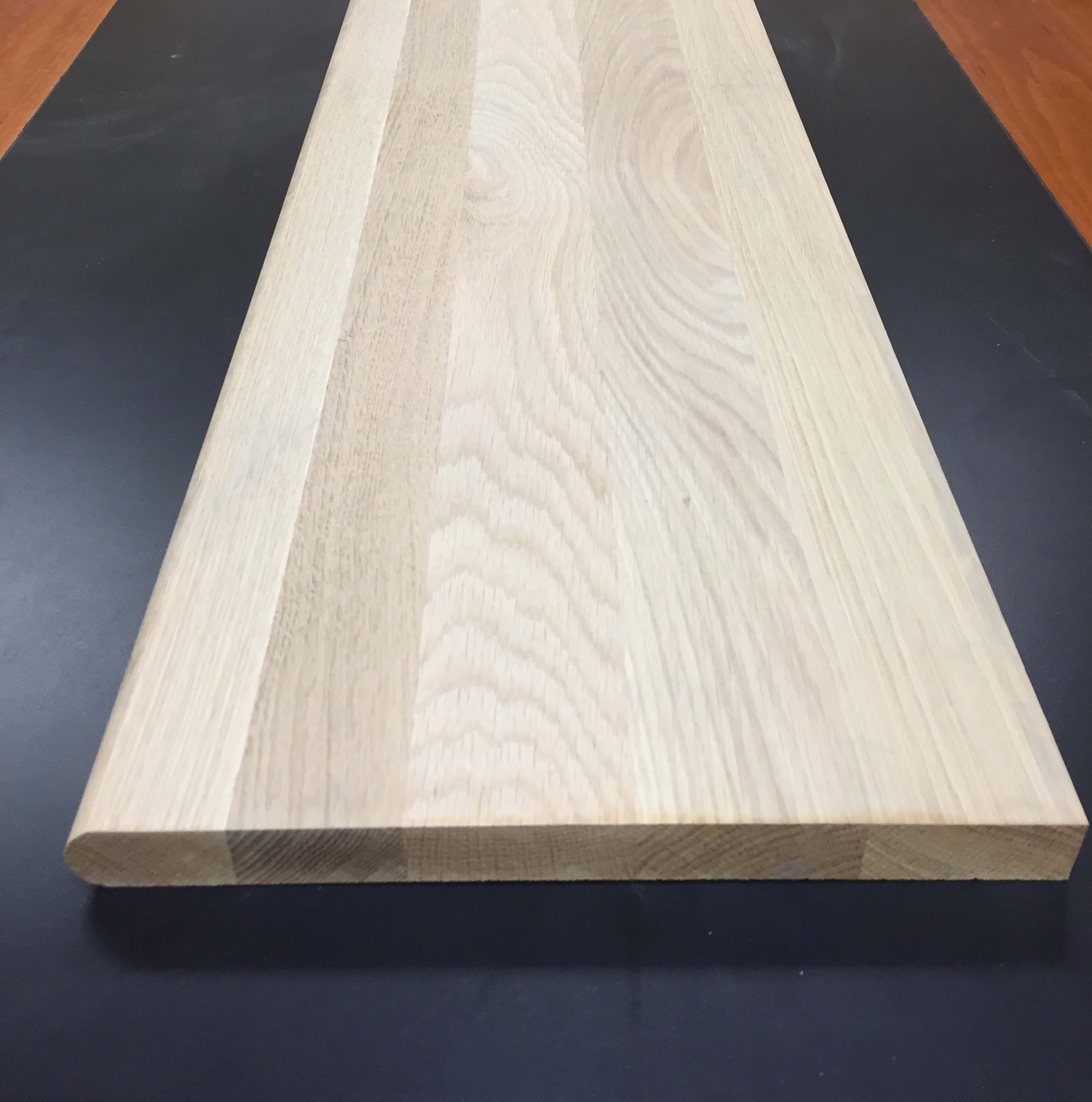 """Hard Maple / Ready to Stain / 1-1/16"""" X 60"""" / Tread Wood + Supply - Solid Unfinished Hardwood Stair Tread 0"""