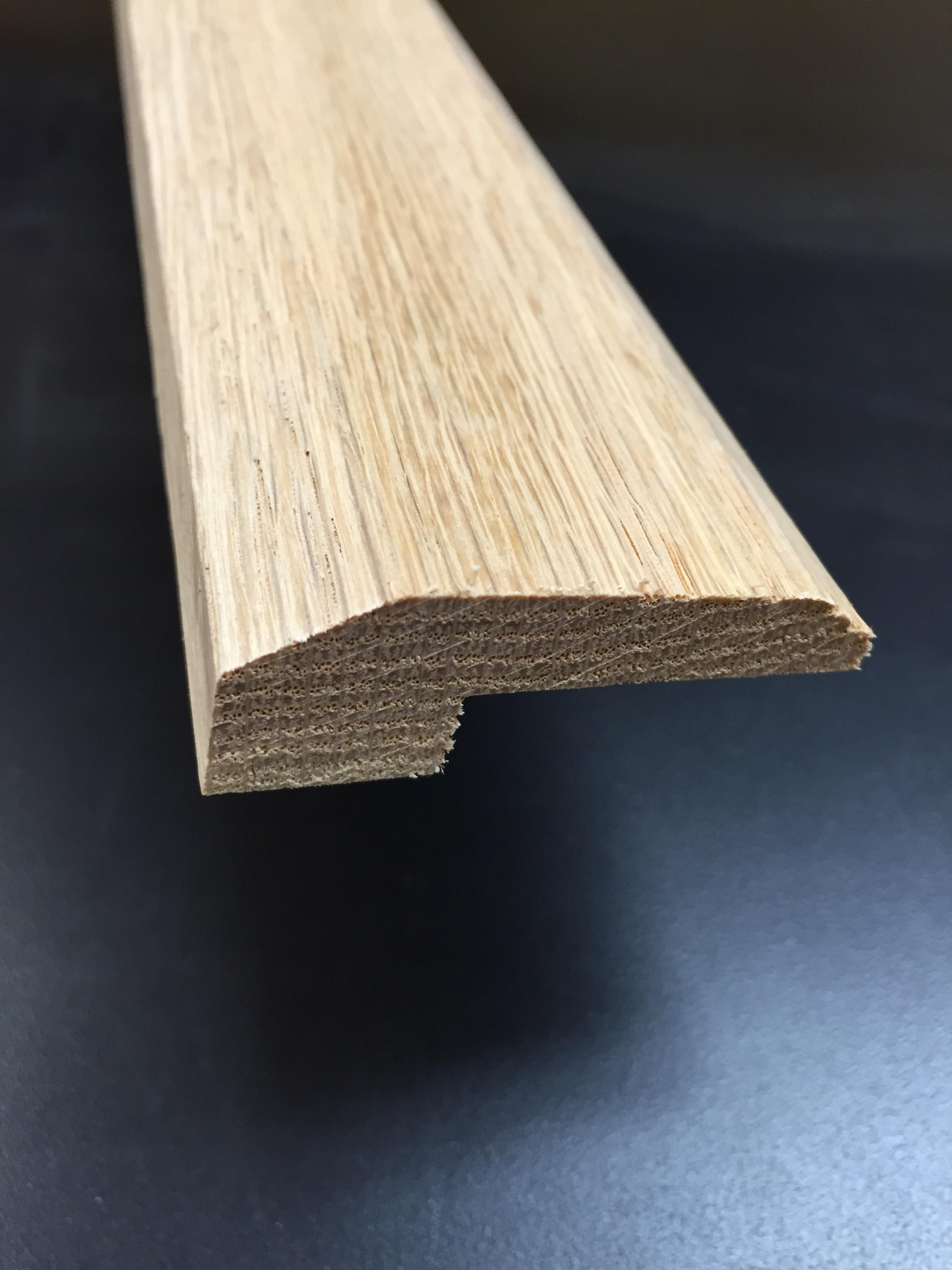 "Threshold / Walnut / 3/4"" X 2"" / Threshold2 Floor Molding - Unfinished Hardwood Floor Moldings 0"