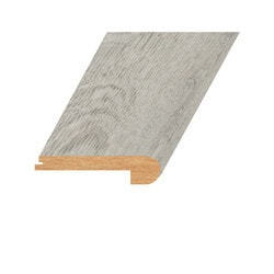 """Vinyl Moldings - Romulus Collection - Abstract Silver - Abstract Silver / Flush Stair Nose / 94.5""""x 4.4""""x 1"""""""