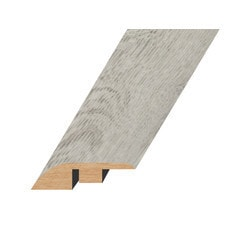 """Vinyl Moldings - Romulus Collection - Abstract Silver - Abstract Silver / Reducer / 94.5""""x 1.8""""x 0.6"""""""