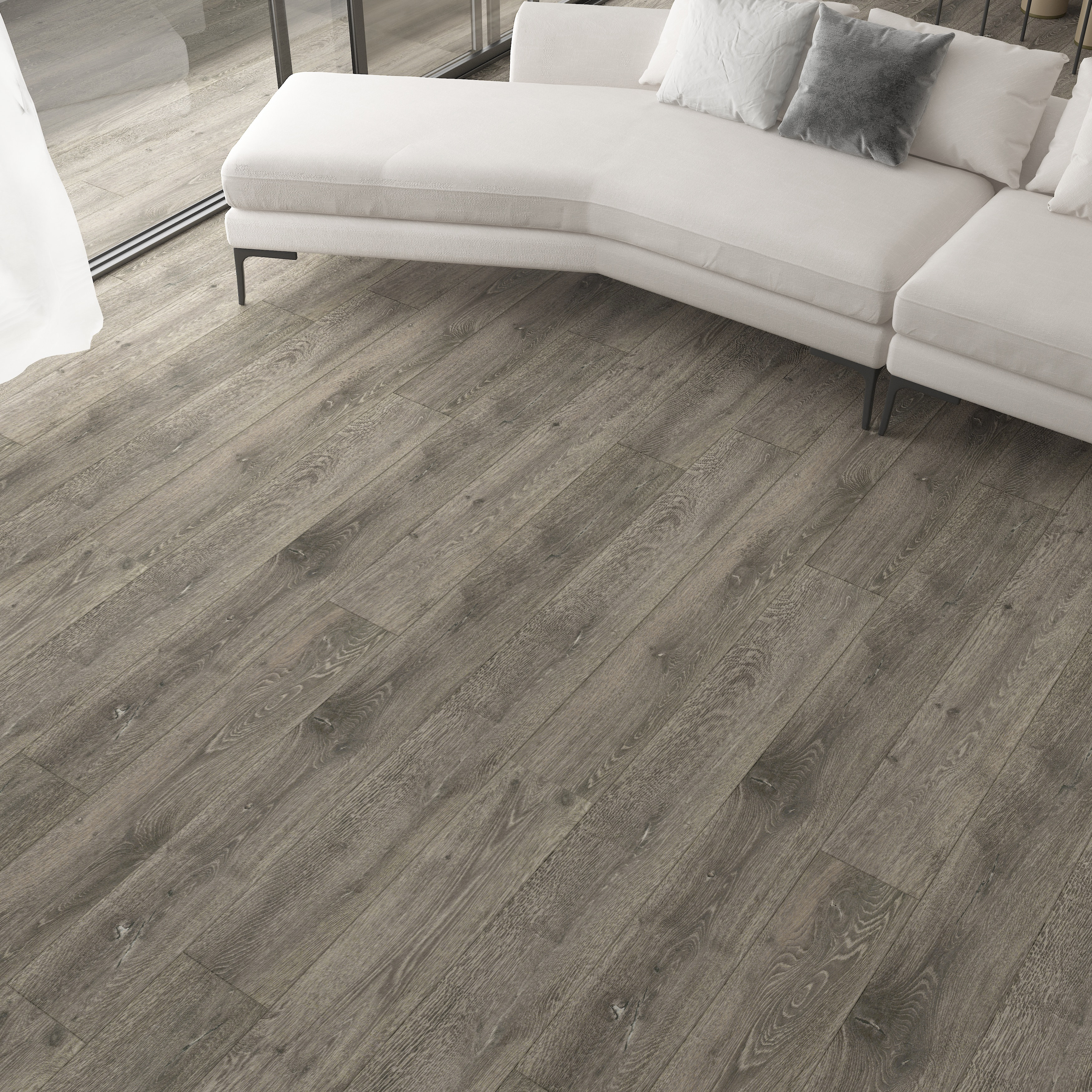 Burnished Fossil / 8.5mm / WPC / Click Lock Vinyl Planks - 8.5mm WPC Click Lock - XL Romulus Collection 0