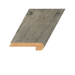 """Vinyl Moldings - Romulus Collection - Burnished Fossil - Burnished Fossil / Flush Stair Nose / 94.5""""x 4.4""""x 1"""""""