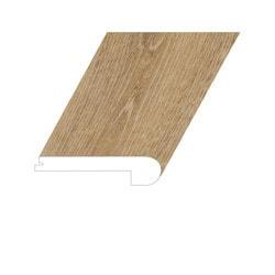 """Vinyl Moldings - Romulus Collection - Concept Oak - Concept Oak / Flush Stair Nose / 94.5""""x 4.4""""x 1"""""""
