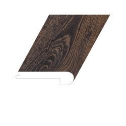 "Vinyl Moldings - Romulus Collection - Deep Espresso - Deep Espresso / Flush Stair Nose / 94.5""x 4.4""x 1"""