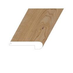 "Vinyl Moldings - Meraki Collection - Demure Natural - Demure Natural / Flush Stair Nose / 94.5"" x 4.5"" x 1"""
