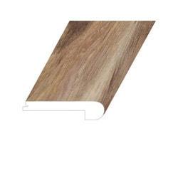 """Vinyl Moldings - Veritas Collection - Enriched Cedar - Enriched Cedar / Flush Stair Nose / 94.5""""x 4.5""""x 1"""""""