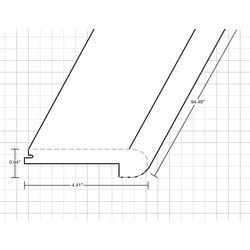"""Laminate Moldings - Ultra Collection - Ultra Century - Ultra Century / Flush Stair Nose / 94.9""""x 4.41""""x 0.94"""""""