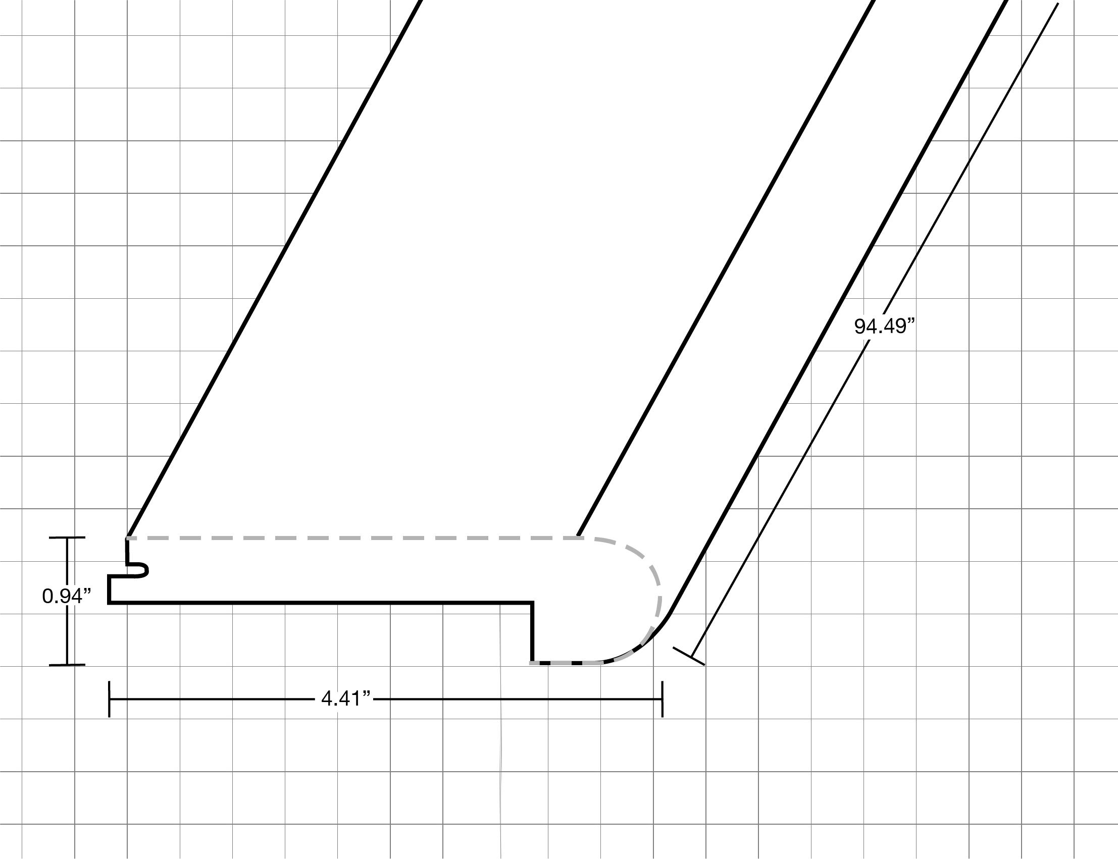 """Azusa / Flush Stair Nose / 94.5""""x 4.5""""x 1"""" Vinyl Moldings - Gradient Collection - Asuza 0"""