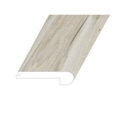 """Vinyl Moldings - Veritas Collection - Fortified Stone - Fortified Stone / Flush Stair Nose / 94.5""""x 4.5""""x 1"""""""