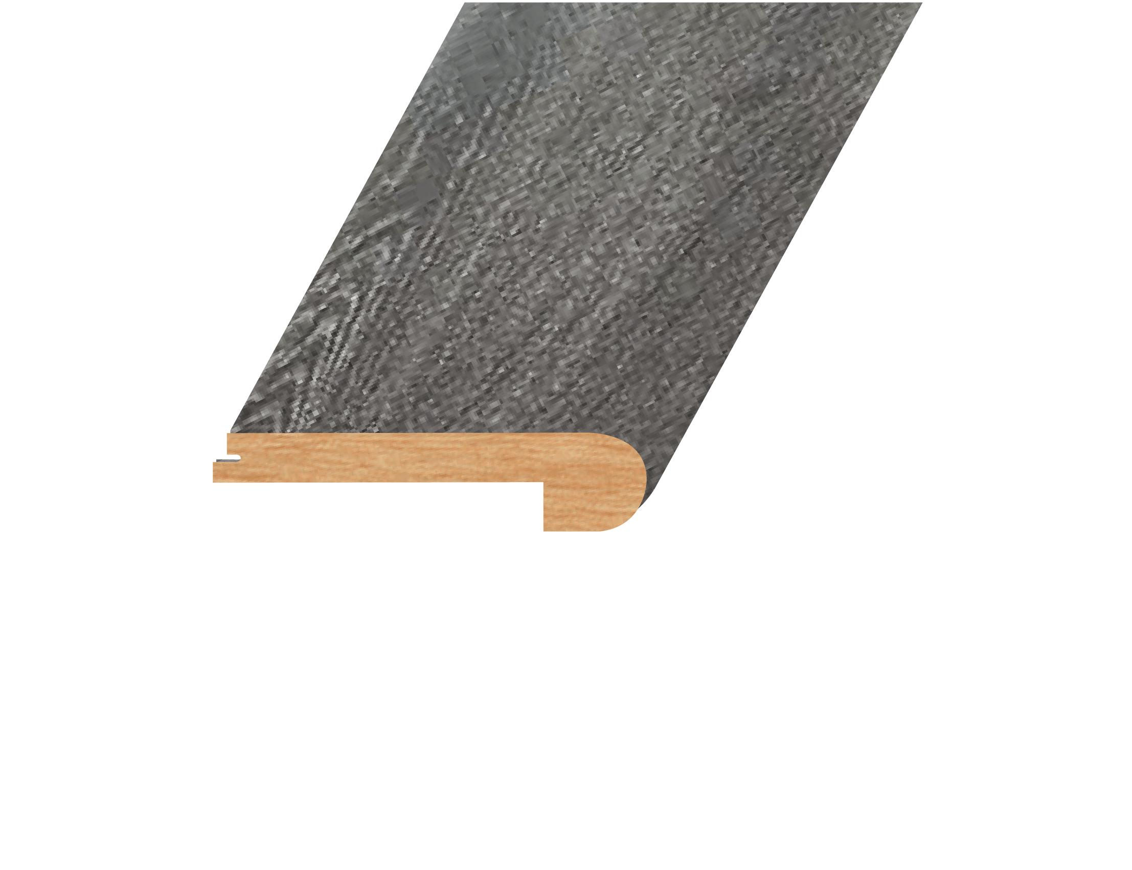 "Gainsboro Slate / Flush Stairnose / 94.5"" x 4.5"" x 1"" Laminate Moldings - 12mm Novus Collection 0"