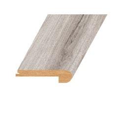 "Laminate Moldings - Marquis Collection - Gilt Platinum - Gilt Platinum / Flush Stair Nose / 94.5""x 4.5""x 1"""