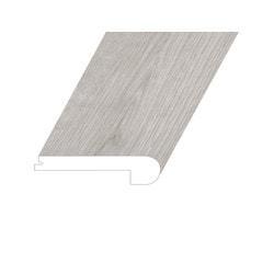 """Vinyl Moldings - Meraki Collection - Iridescent Mist - Iridescent Mist / Flush Stair Nose / 94.5"""" x 4.5"""" x 1"""""""