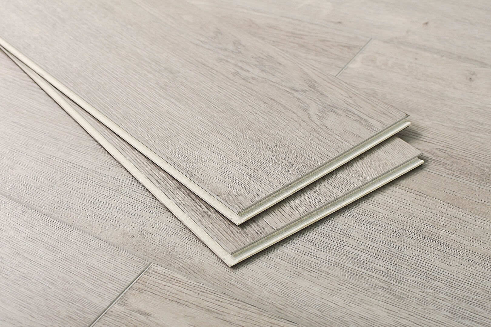 Luxe Ivory / 8mm / WPC / Click Lock Vinyl Planks - 8mm WPC Click Lock - XL Opus Collection 0