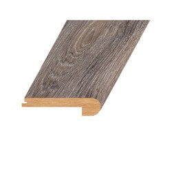 """Laminate Moldings - Marquis Collection - Patent Iron - Patent Iron / Flush Stair Nose / 94.5""""x 4.5""""x 1"""""""