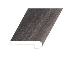 """Vinyl Moldings - Veritas Collection - Rooted Graphite - Rooted Graphite / Flush Stair Nose / 94.5""""x 4.5""""x 1"""""""