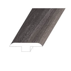 """Vinyl Moldings - Veritas Collection - Rooted Graphite - Rooted Graphite / T-Molding / 94.5""""x 1.8""""x 0.5"""""""