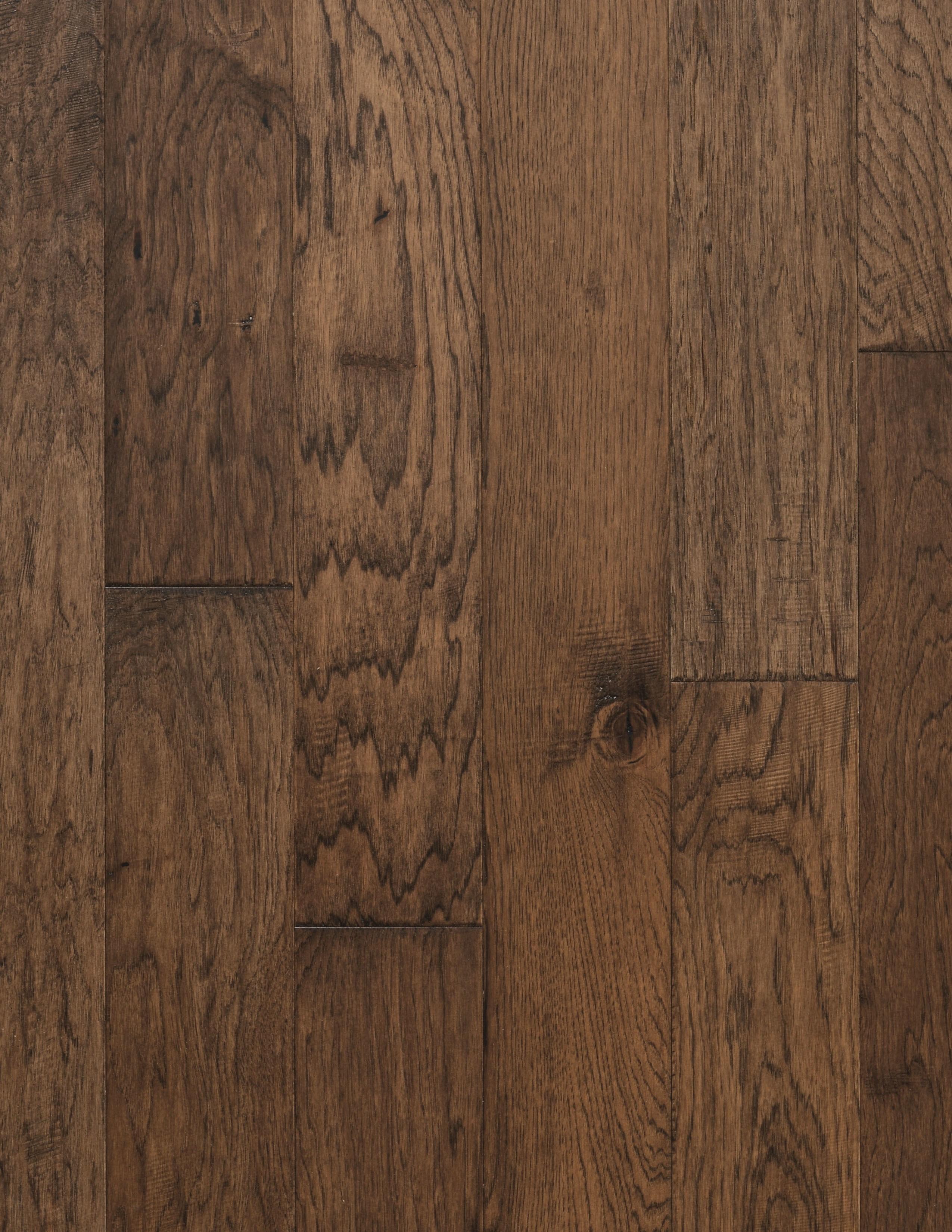 """Saddle / Hickory / 9 Coats UV Aluminum Oxide / ABCDE / 1/2"""" x 6.5"""" x R.L. Big Ass Wood Floors - El Dorado Collection 0"""
