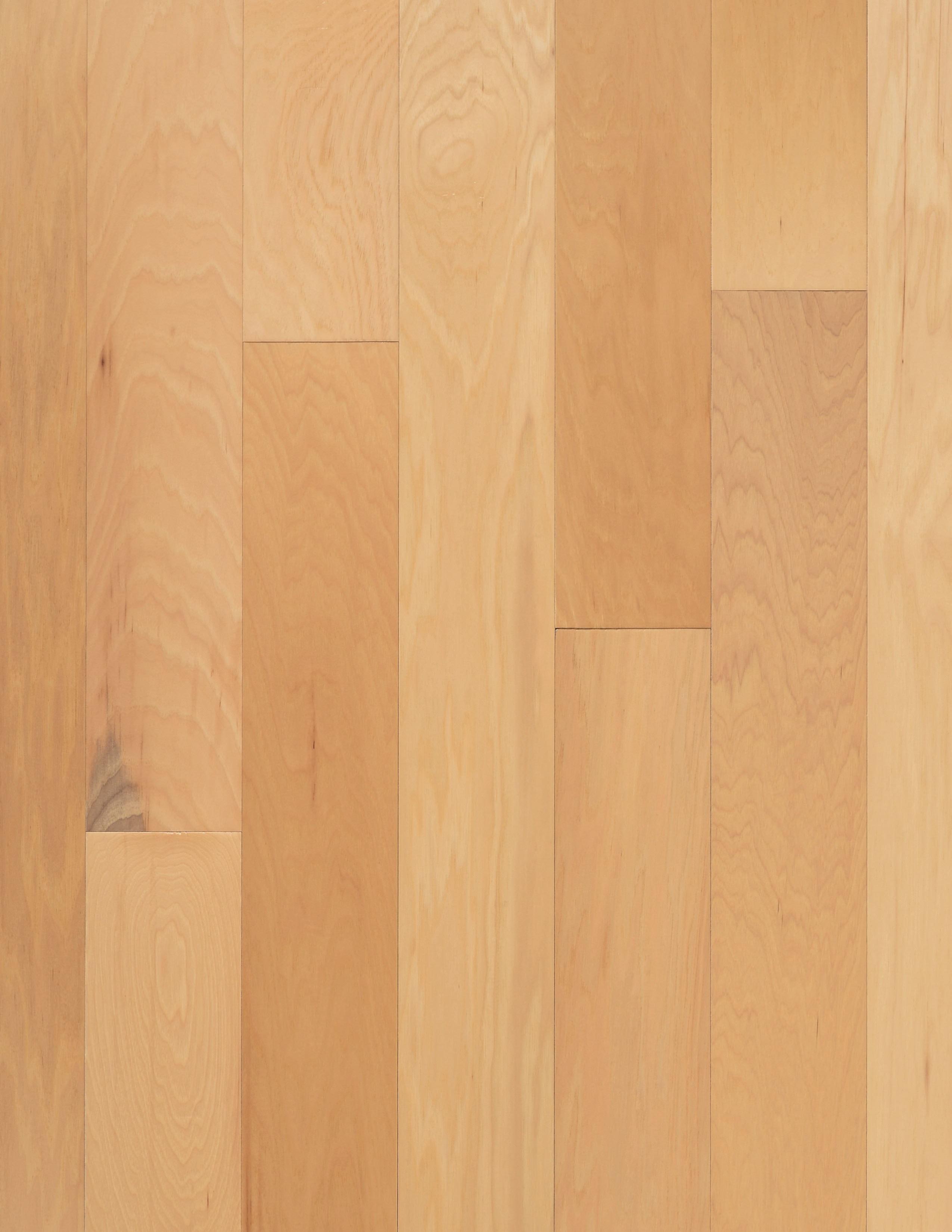 "Natural / Hickory / 9 Coats UV Aluminum Oxide / ABCDE / 3/8"" x 5"" x R.L. Big Ass Wood Floors - Riverside Collection 0"