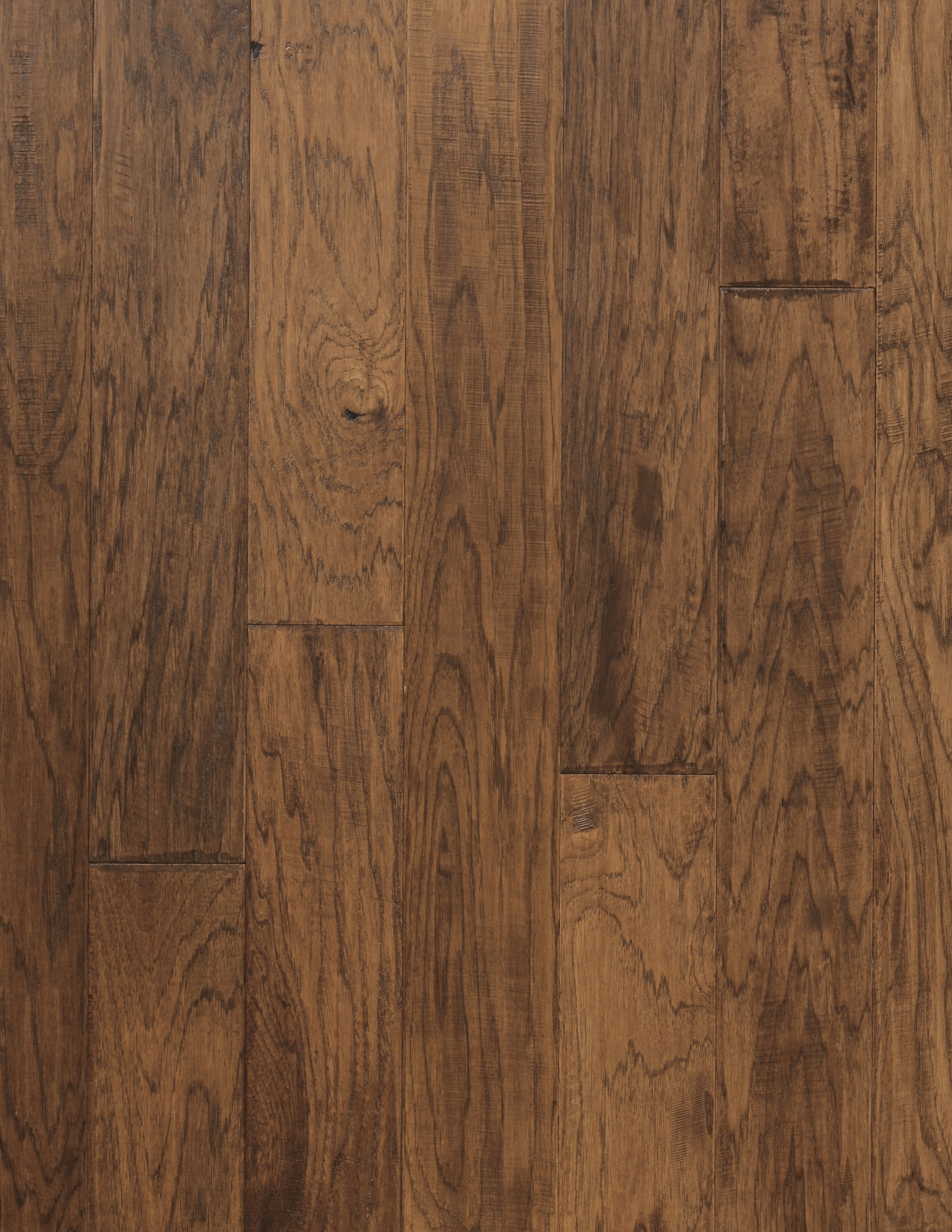 "Prairie / Hickory / 9 Coats UV Aluminum Oxide / ABCDE / 3/8"" x 5"" x R.L. Big Ass Wood Floors - Standbridge Collection 0"
