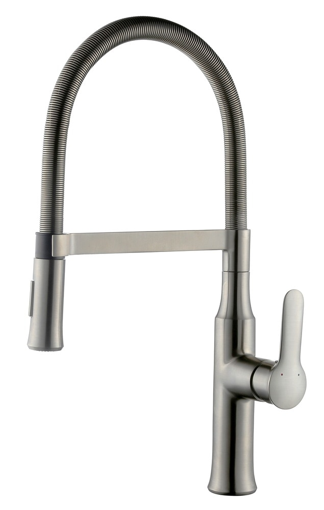 Allora Usa Gooseneck Kitchen Faucet Pull Down Spray Head Flexible